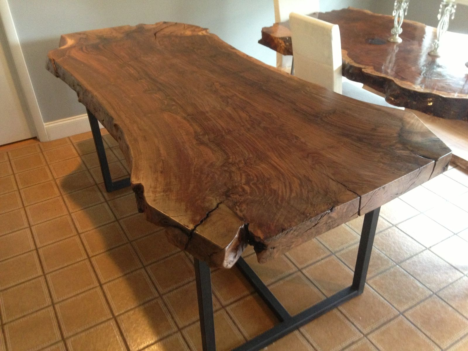 Well Liked Handmade Live Edge Claro Walnut Dining Tableozma Design In Walnut Finish Live Edge Wood Contemporary Dining Tables (View 3 of 30)