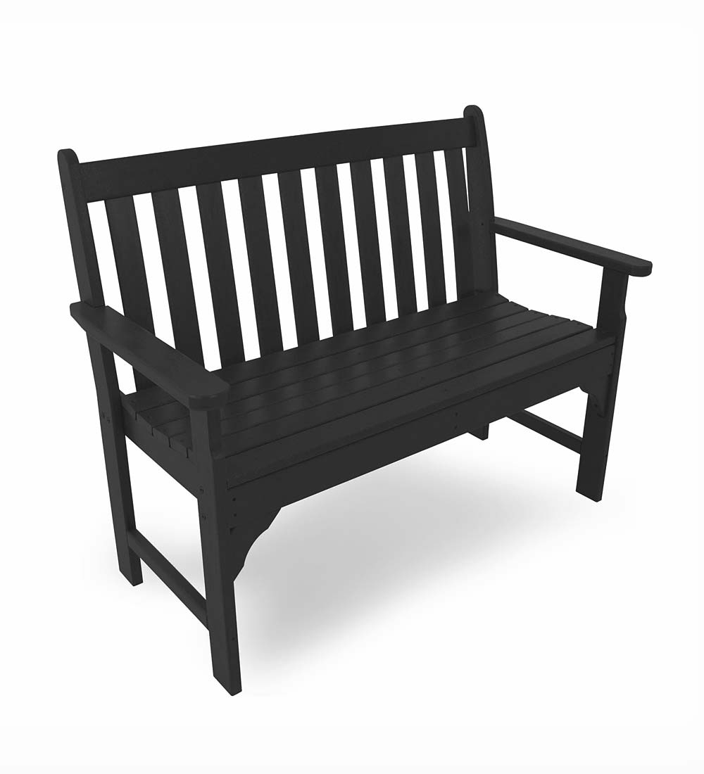 Well Liked Made In America Poly Wood™ Outdoor Vineyard Benches With Regard To Vineyard 2 Person Black Recycled Plastic Outdoor Swings (View 24 of 30)