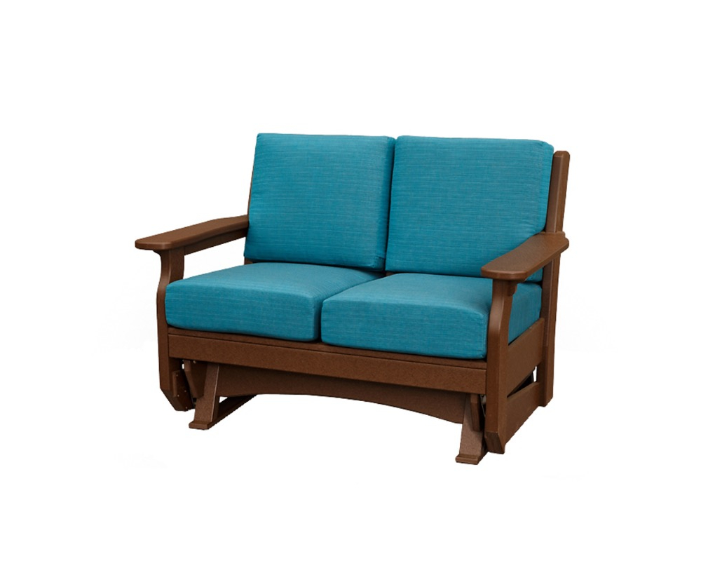 Well Liked Outdoor Loveseat Gliders With Cushion With Van Buren Loveseat Glider – Green Acres Outdoor Living (Gallery 23 of 30)