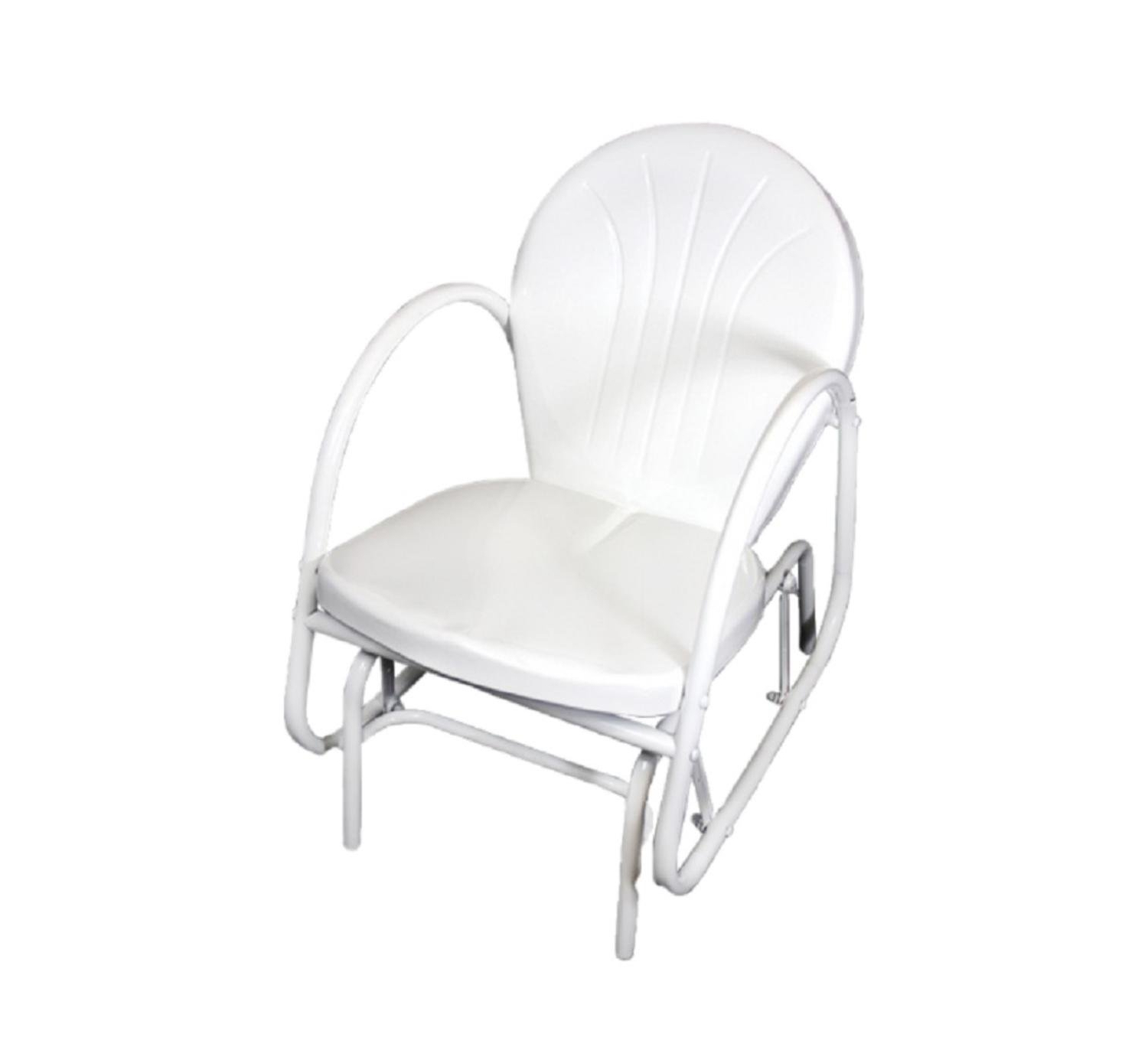 Well Liked Outdoor Retro Metal Double Glider Benches With Regard To Amazon : Northlight White Retro Metal Tulip Outdoor (View 20 of 30)