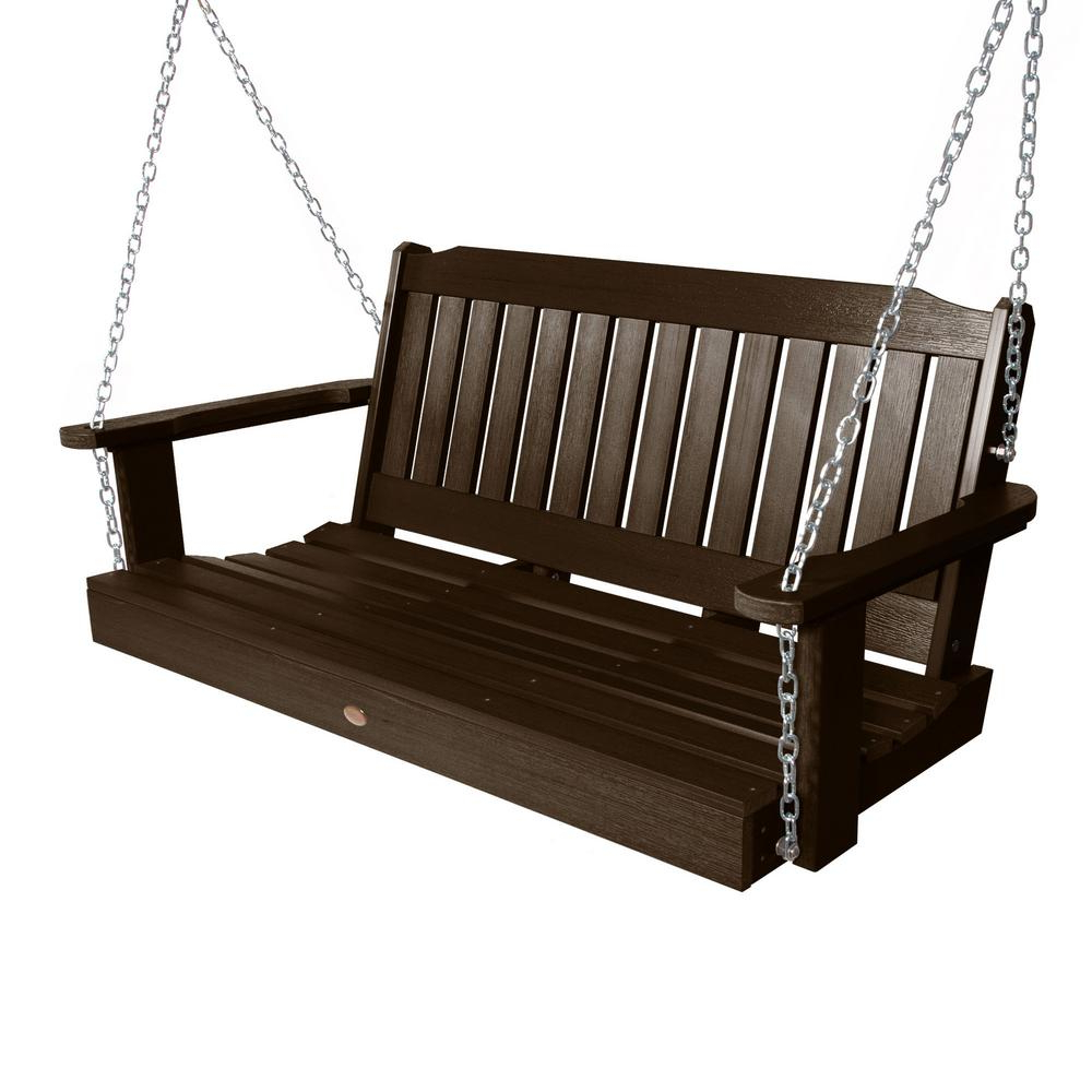 Well Liked Porch Swings – Patio Chairs – The Home Depot Pertaining To Vineyard 2 Person Black Recycled Plastic Outdoor Swings (View 7 of 30)