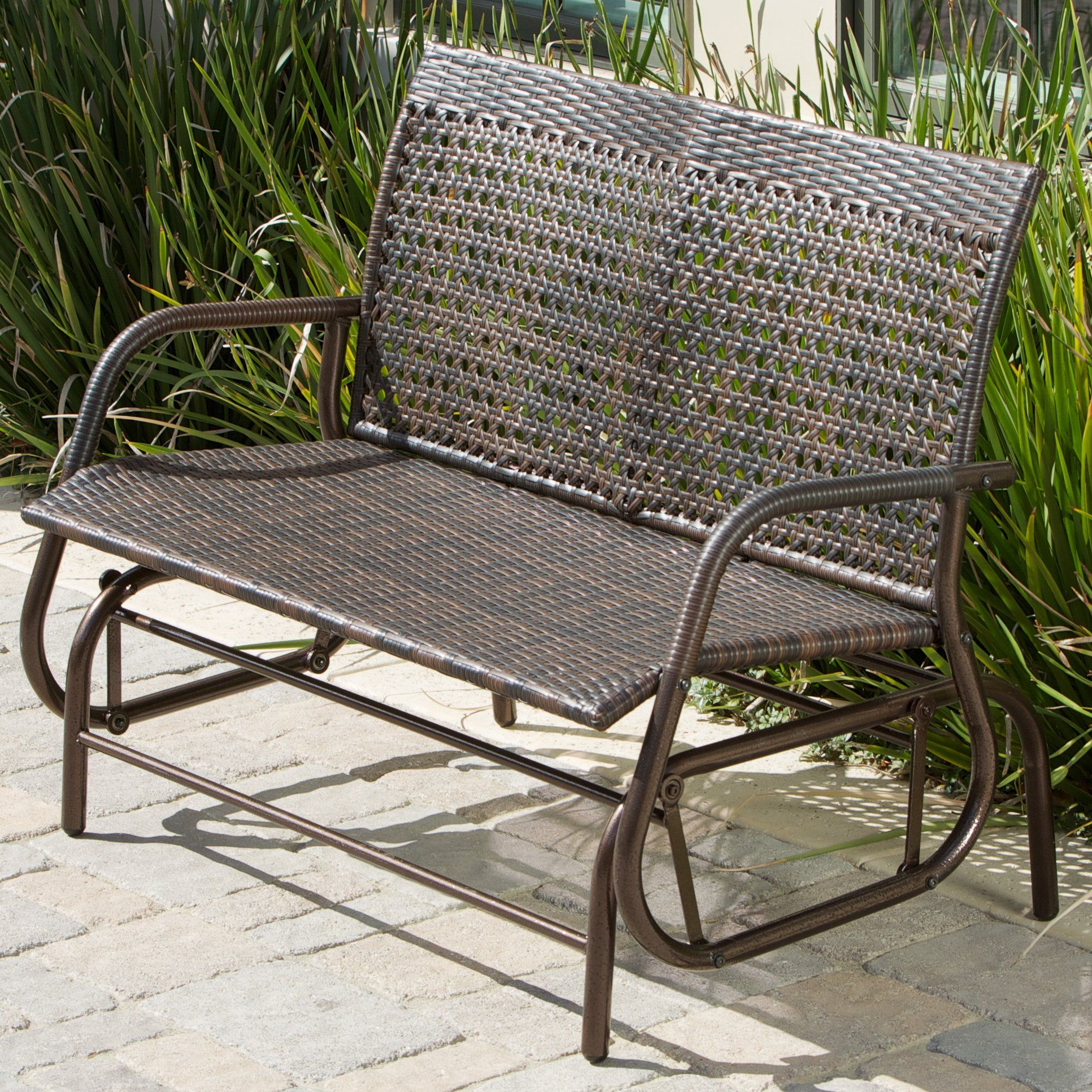 Well Liked Rocking Love Seats Glider Swing Benches With Sturdy Frame For $190 Orchid Outdoor Swinging Bench (View 30 of 30)