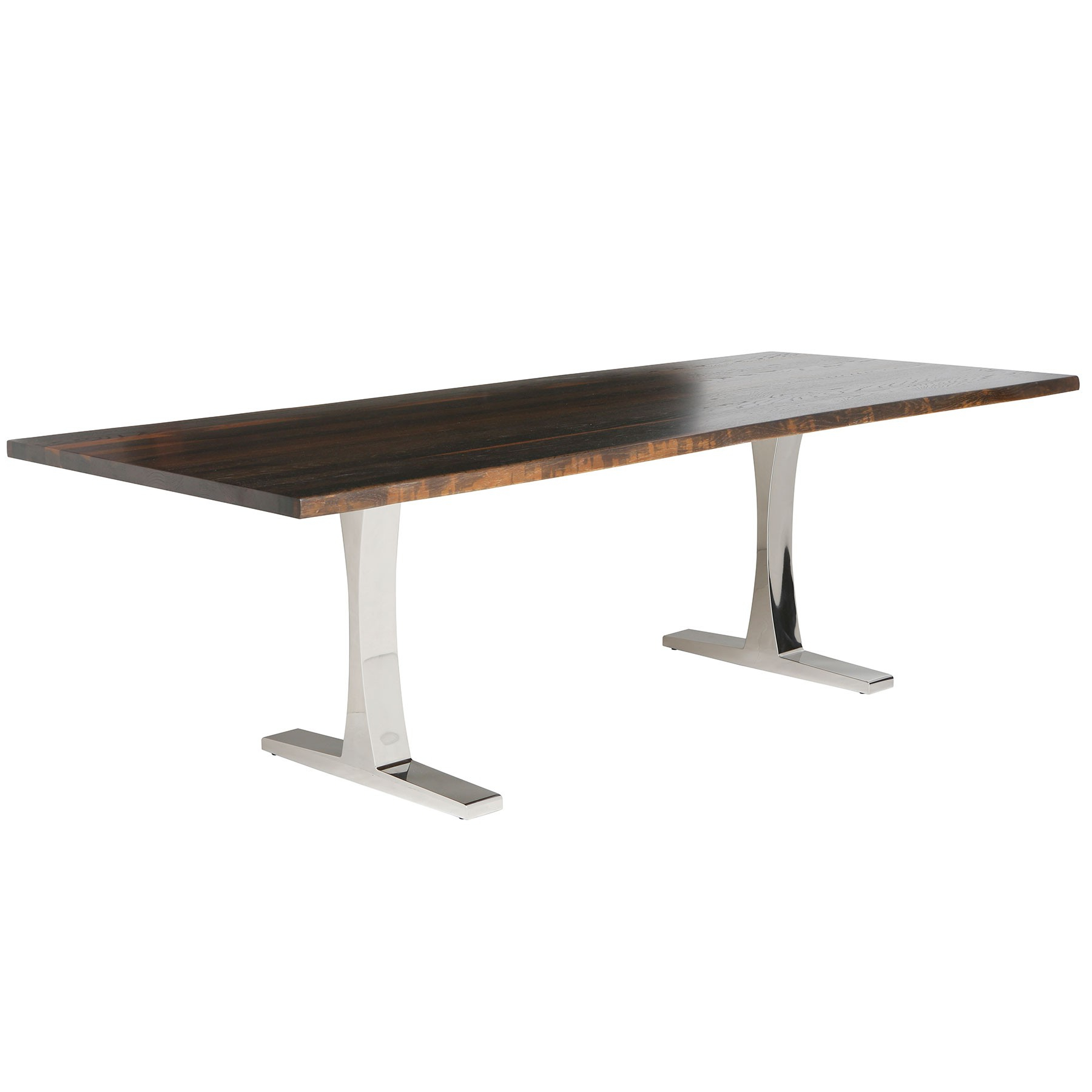 Well Liked Toulouse Dining Table – Seared Oak / Stainless Inside Dining Tables In Seared Oak With Brass Detail (View 26 of 30)