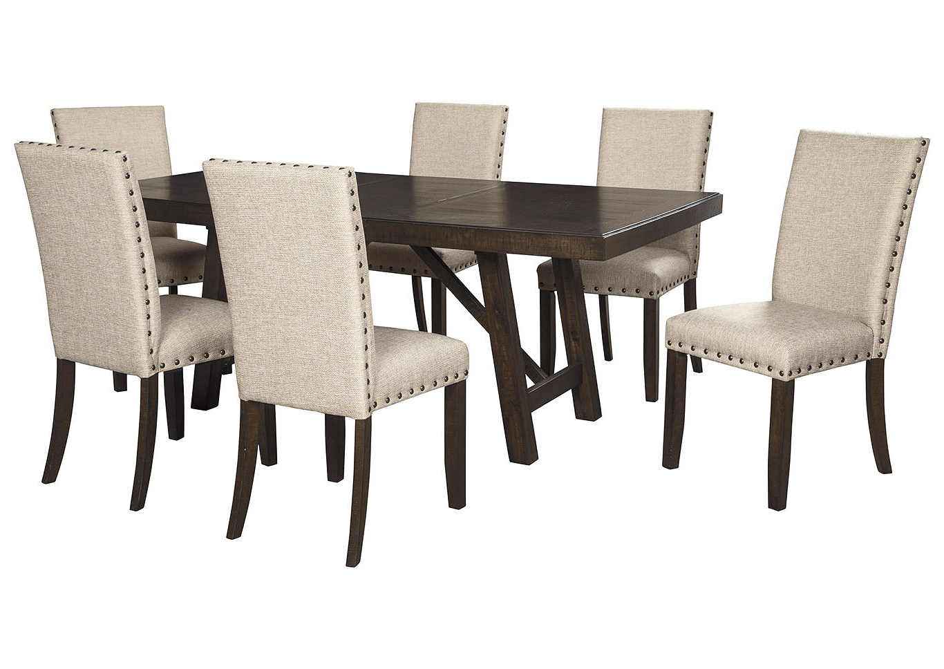 Well Liked Transitional 6 Seating Casual Dining Tables With Regard To Bargain Furniture & Appliances – Mi Rokane Light Brown (View 30 of 30)