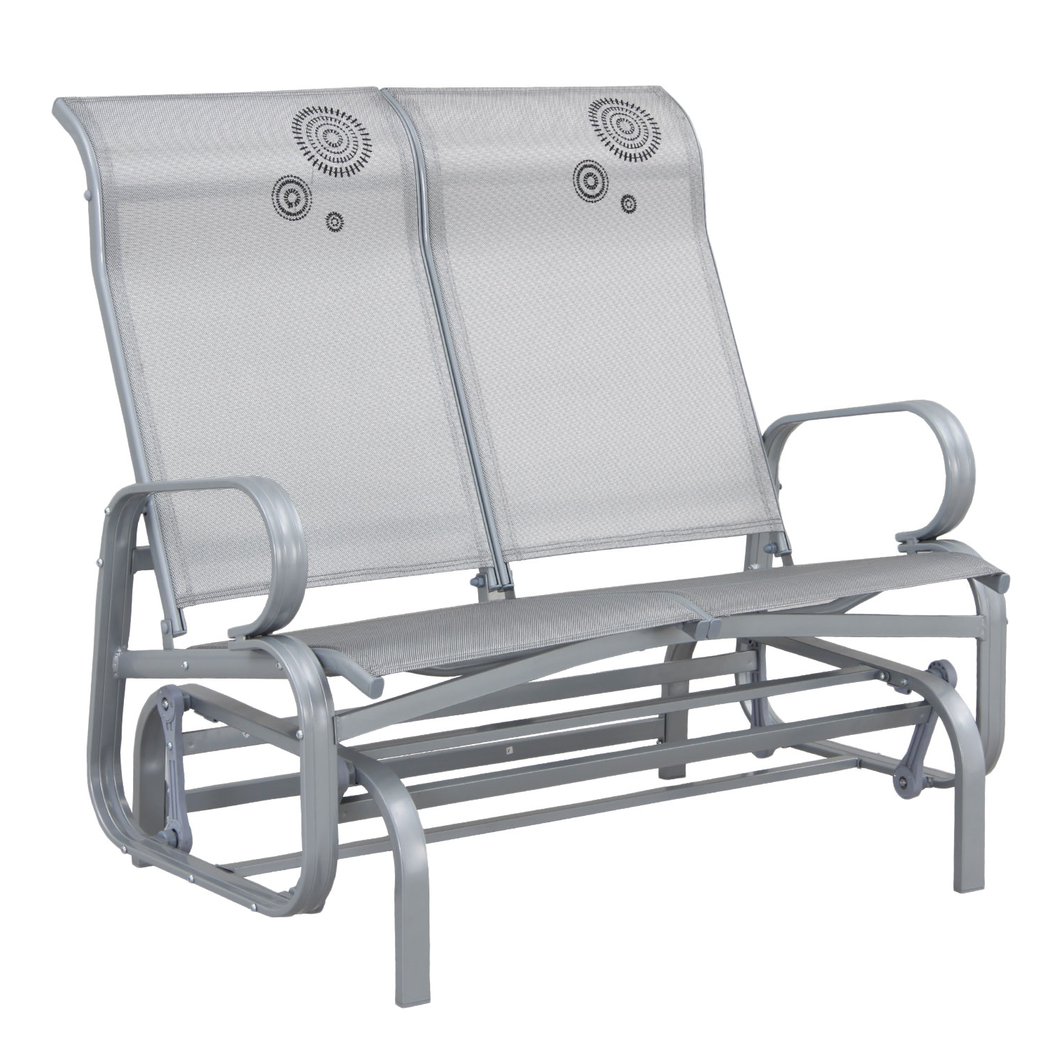Well Liked Twin Seat Glider Benches With Suntime Havana Silver Twin Seat Outdoor Rocker Glider (View 13 of 31)