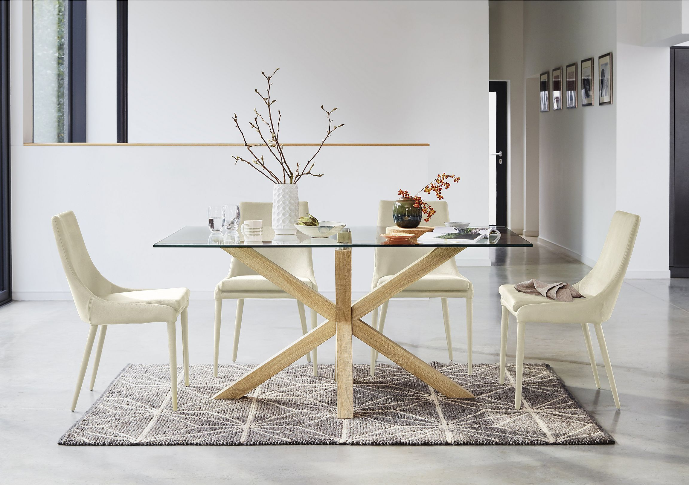 Well Liked Ultra Modern Glass Topped Dining Table Seats 6. 12Mm Clear Within Eames Style Dining Tables With Chromed Leg And Tempered Glass Top (Gallery 14 of 30)