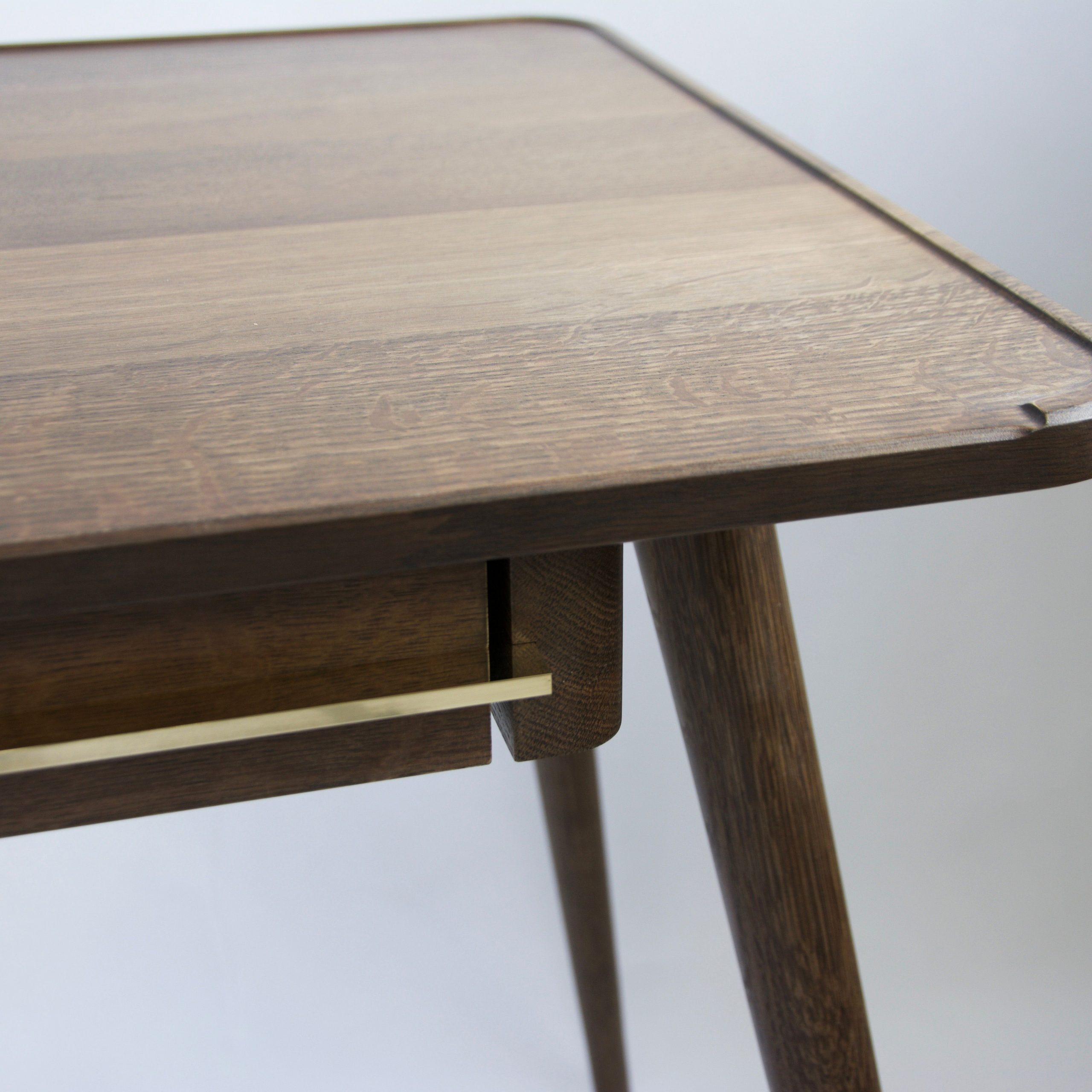 Well Liked Wall's Desk – Fumed Oak Writing Desk With Brass Detailing Within Fumed Oak Dining Tables (View 12 of 30)