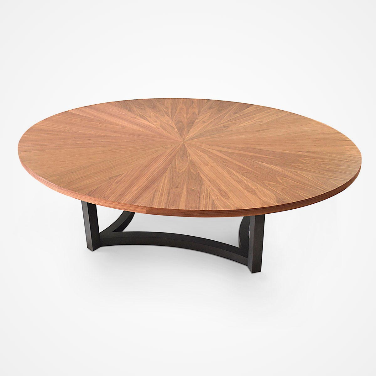 Well Liked Wood Top Dining Tables Intended For Walnut Veneer Oval Top Dining Table (View 26 of 30)