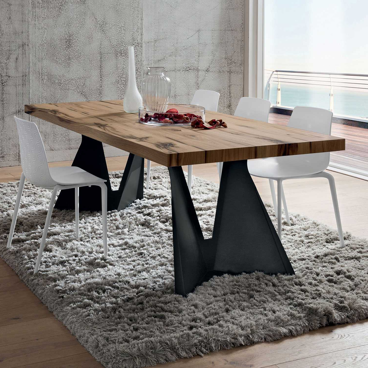 Well Liked Wood Top Dining Tables Regarding Jeor (View 18 of 30)