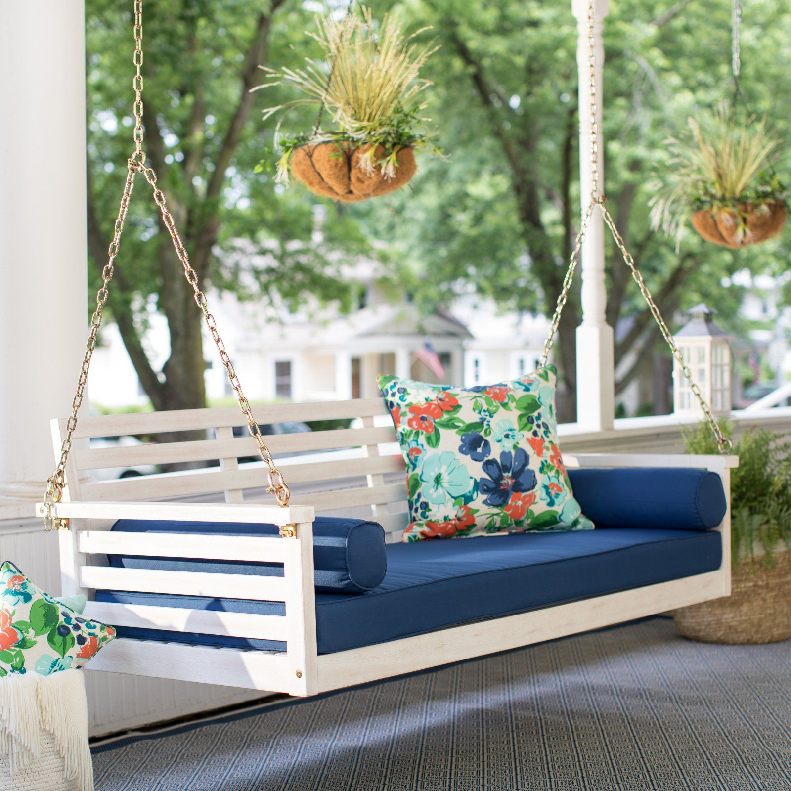 Wicker Porch Swing With Regard To Country Style Hanging Daybed Swings (View 11 of 30)