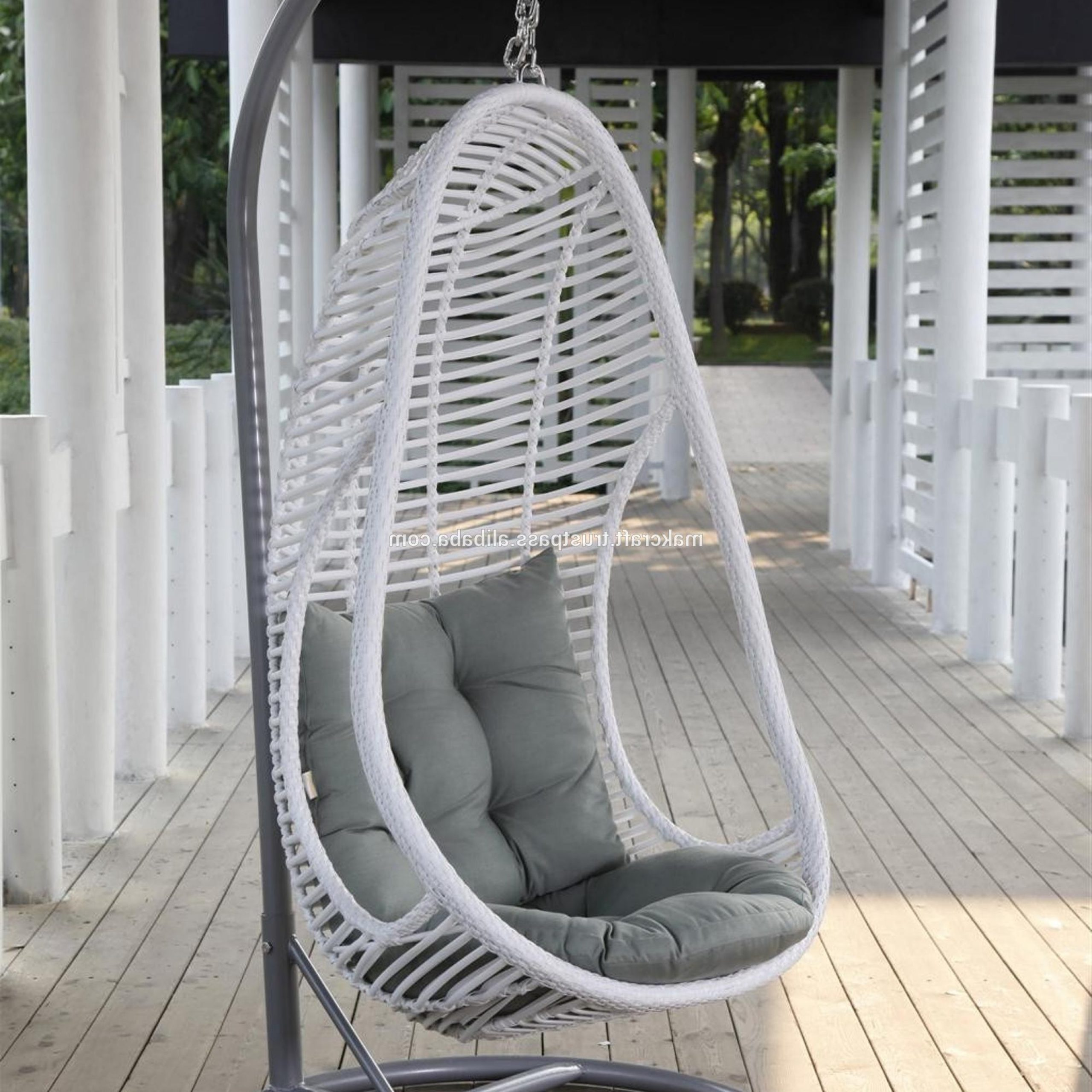 Wicker Rattan Outdoor Garden Swing Egg Chair – Garden Rattan Swing Egg Chair – Patio Swing Egg Chair With Steel Frame Furniture – Buy Wicker Hanging Throughout Newest Rattan Garden Swing Chairs (View 25 of 31)