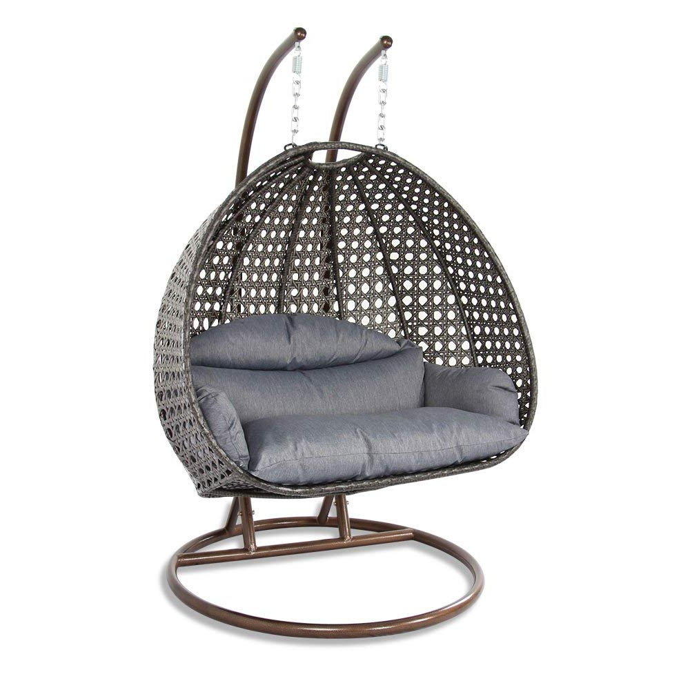 Widely Used 12 Best Hanging Egg Chairs To Buy In 2020 – Outdoor & Indoor With 2 Person Black Steel Outdoor Swings (Gallery 22 of 30)