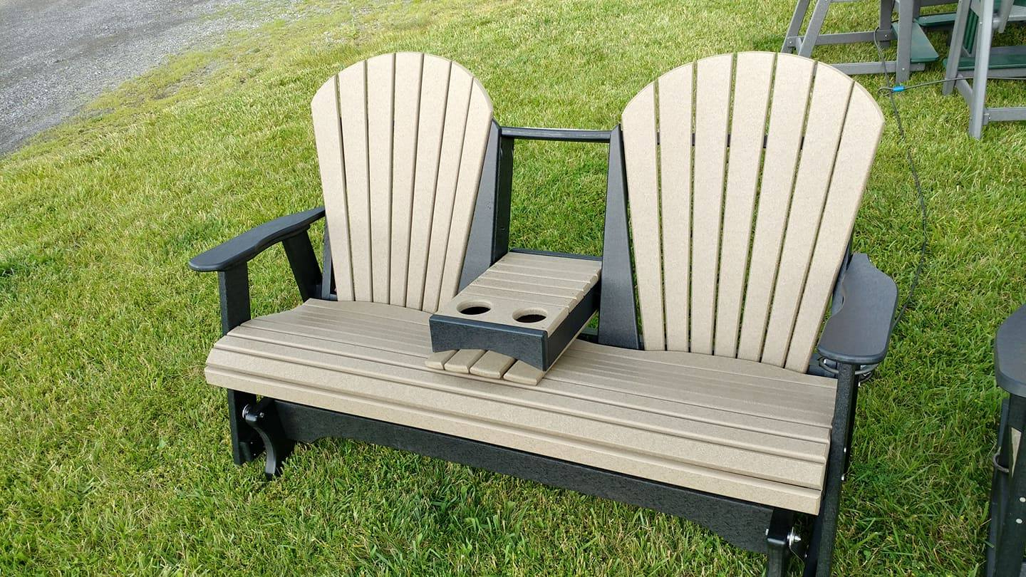 Widely Used 5' Fan Back Glider With Center Console (Gallery 23 of 30)