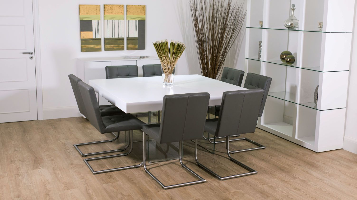 Widely Used 8 Seater Square Glass Dining Table (View 29 of 30)