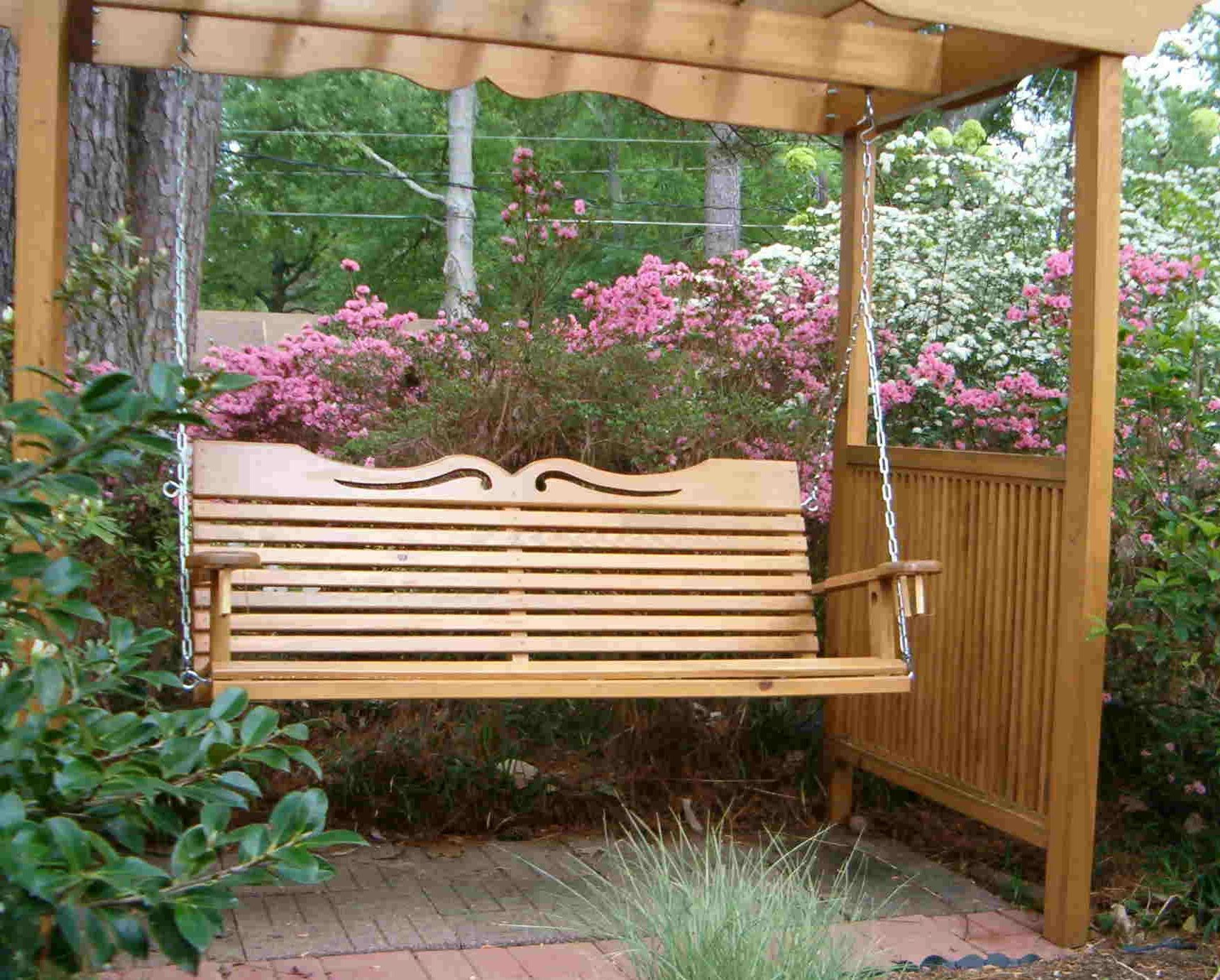 Widely Used A4 Ft Cedar Pergola Swings Intended For Porch Swings For Your Comfy Outdoor Furniture Ideas: Porch (View 29 of 30)