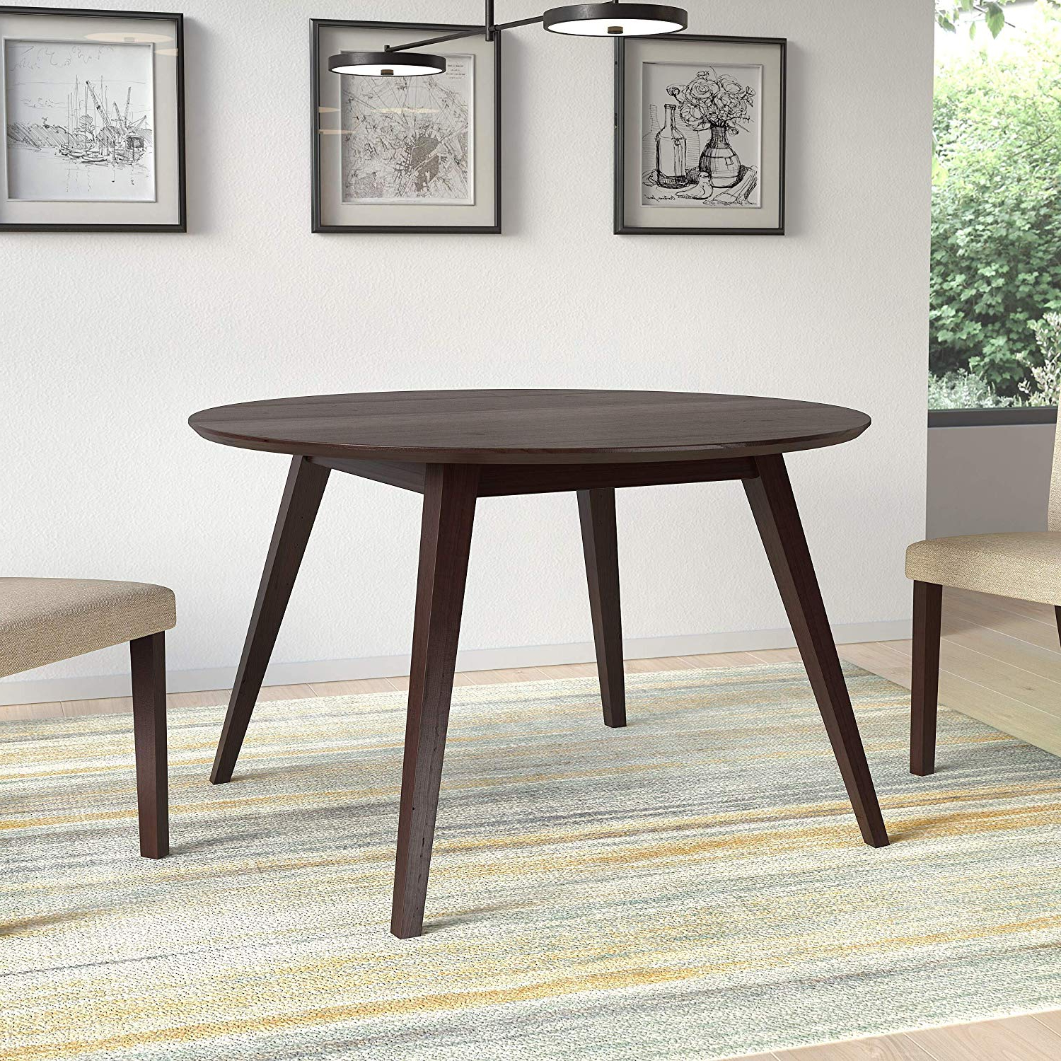 Widely Used Amazon – Corliving Atwood Round Dining Table In Pertaining To Atwood Transitional Rectangular Dining Tables (Gallery 12 of 30)