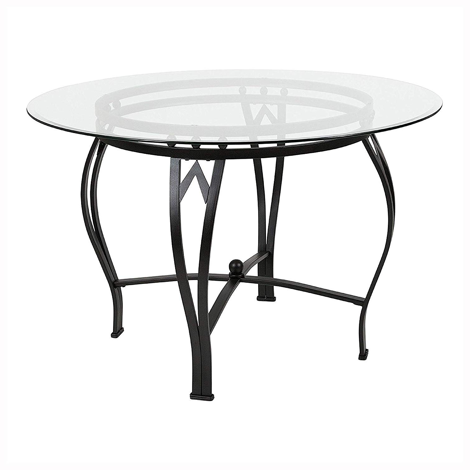 Widely Used Amazon – Dining Tables, Modern 45 Inch Round Glass Top Intended For Modern Round Glass Top Dining Tables (Gallery 10 of 30)