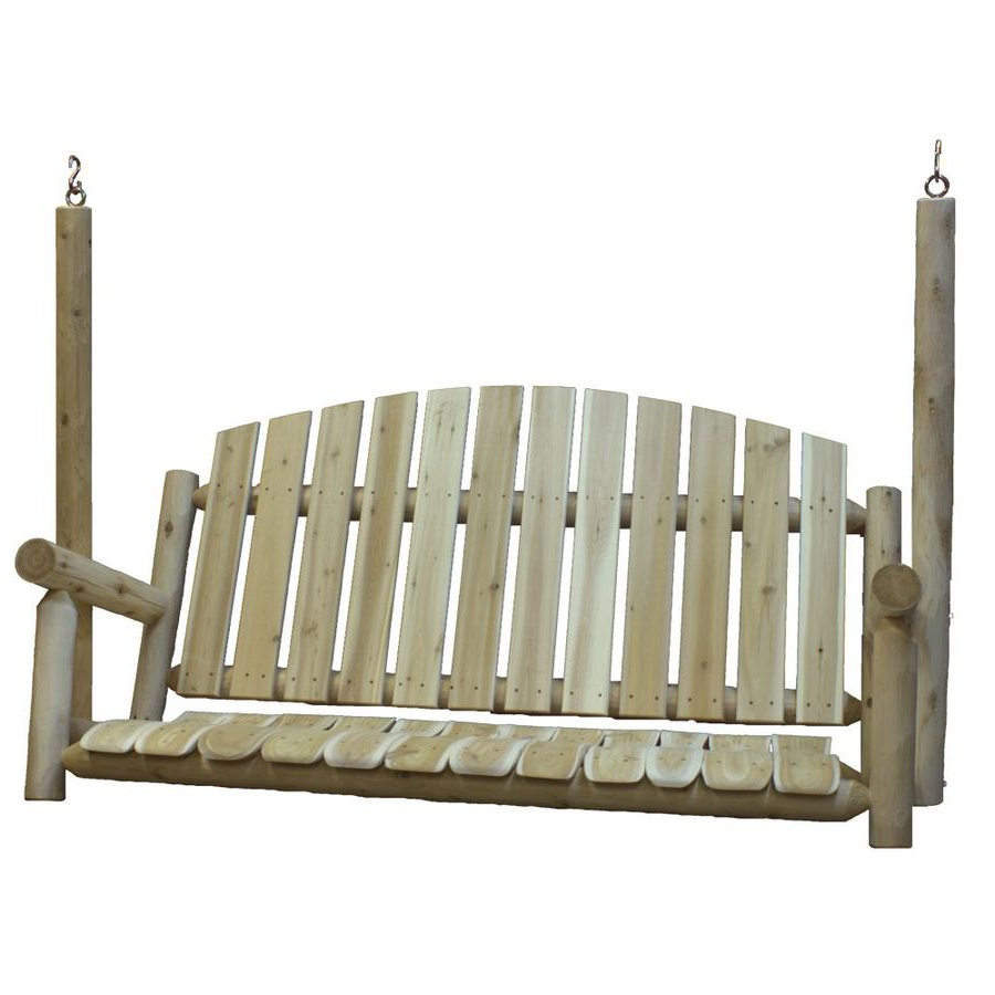 Widely Used Casual Thames White Wood Porch Swings Within Porch Swings & Gliders At Lowes (View 30 of 30)