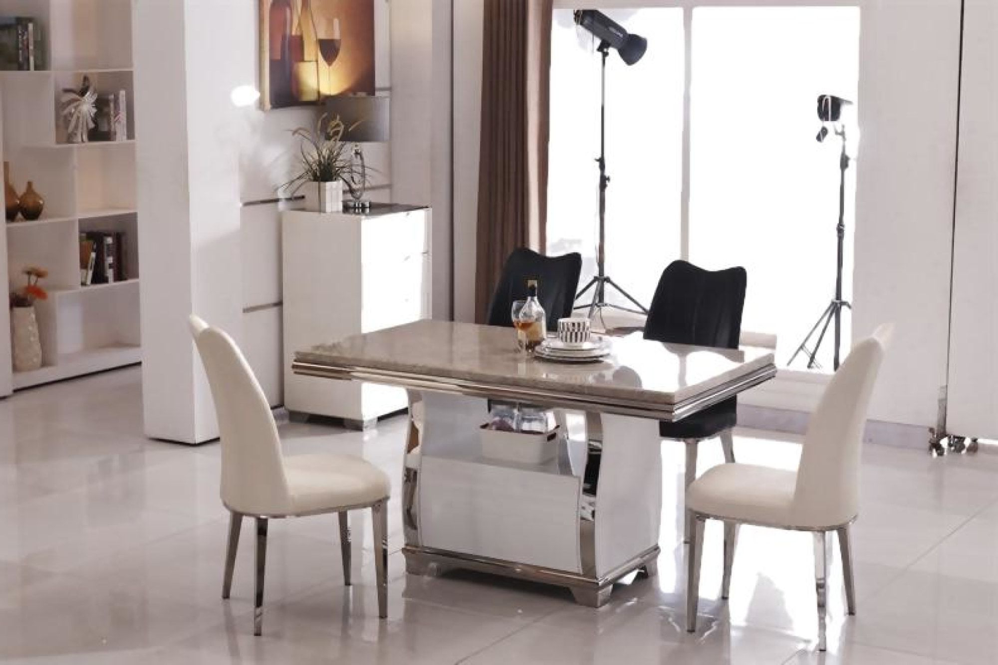 Widely Used Contemporary Dining Table Sets Stylish Luxury Silver Marble Intended For 6 Seater Retangular Wood Contemporary Dining Tables (View 22 of 30)