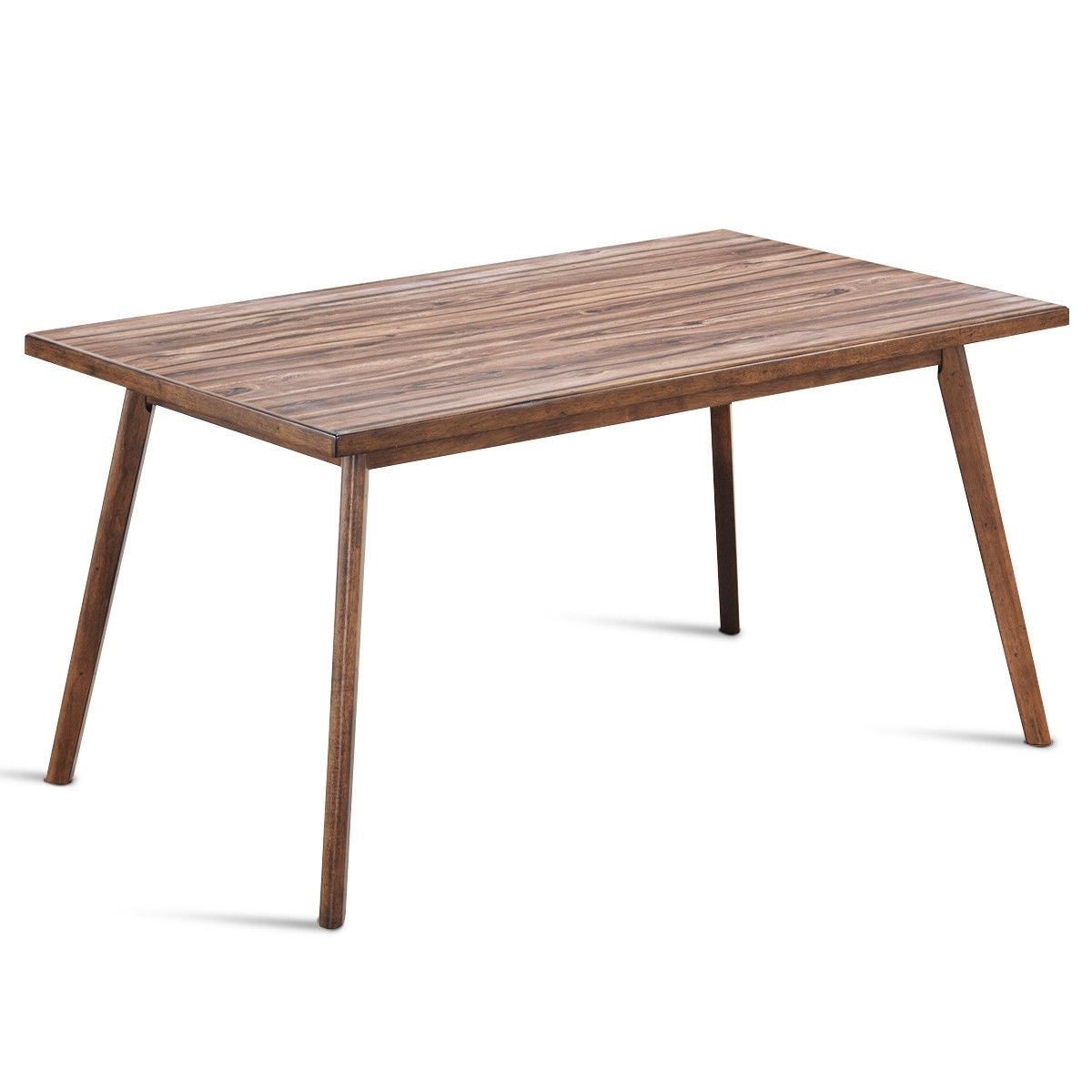 Widely Used Costway Mid Century Dining Table Rectangular Top Wood Legs Kitchen Dining Room Furniture – As Pic In Mid Century Rectangular Top Dining Tables With Wood Legs (View 21 of 30)