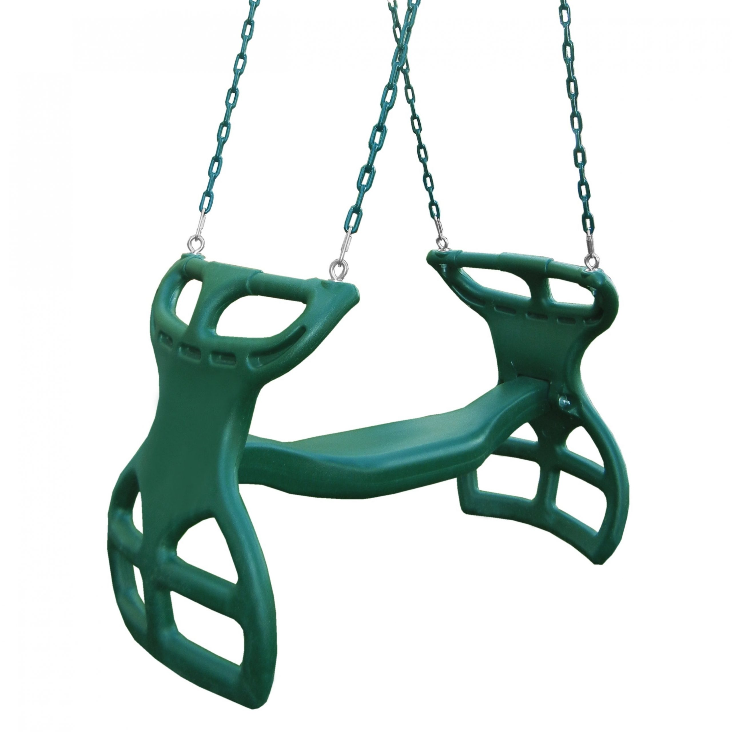 """Widely Used Dual Rider Glider Swings With Soft Touch Rope Inside Swing N Slide Dual Ride Glider With Chains – Green – 38"""" L X 16"""" W X 24"""" H (Gallery 8 of 30)"""