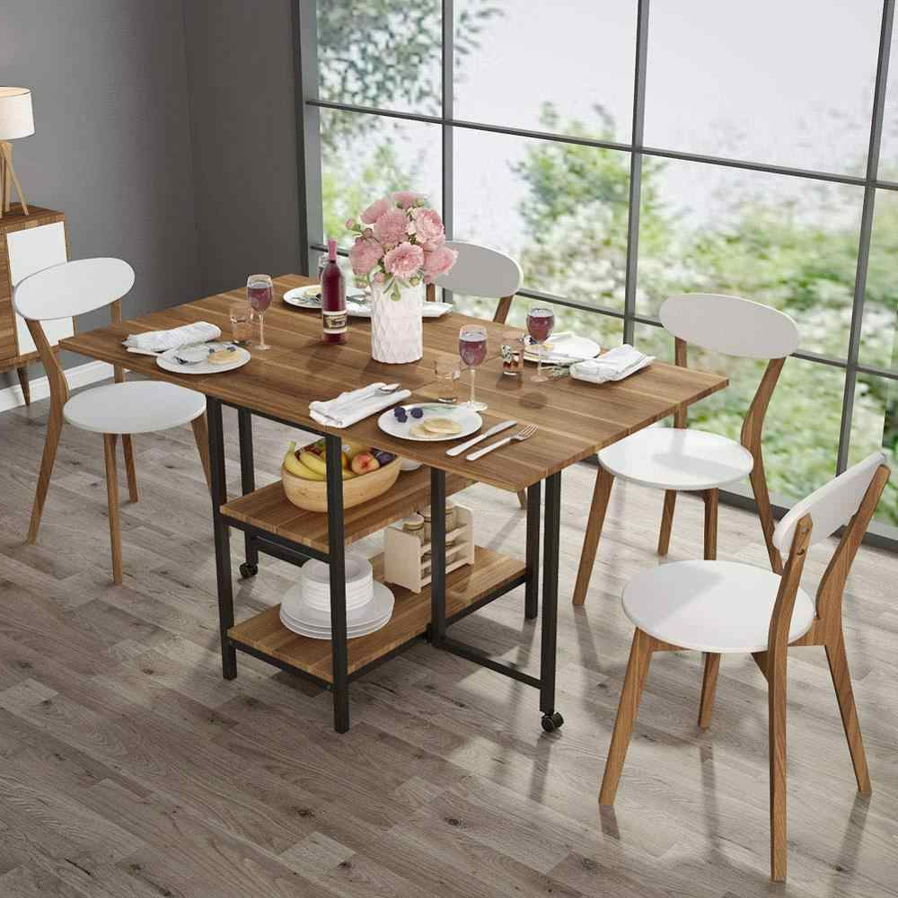 Widely Used Folding Dining Table Expandable Double Drop Leaf 2 Tier Inside Wood Kitchen Dining Tables With Removable Center Leaf (Gallery 12 of 30)