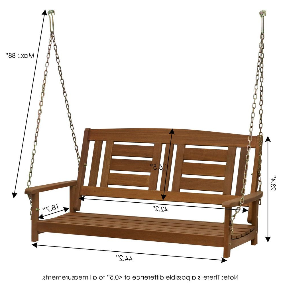 Widely Used Hardwood Hanging Porch Swing With Chain Rustic Vintage Regarding Porch Swings With Chain (View 2 of 30)