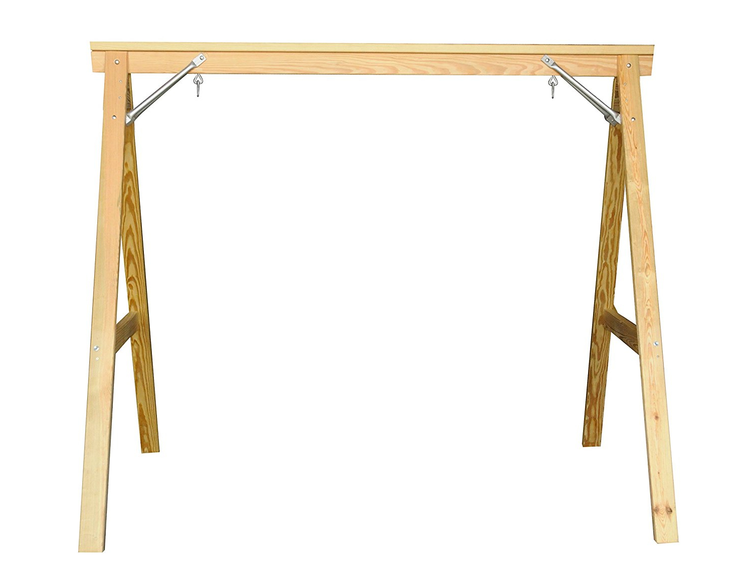 Widely Used Hardwood Hanging Porch Swings With Stand Within Scandinavian Style Wood Porch Swing Stand For 4Ft Swings (View 30 of 30)