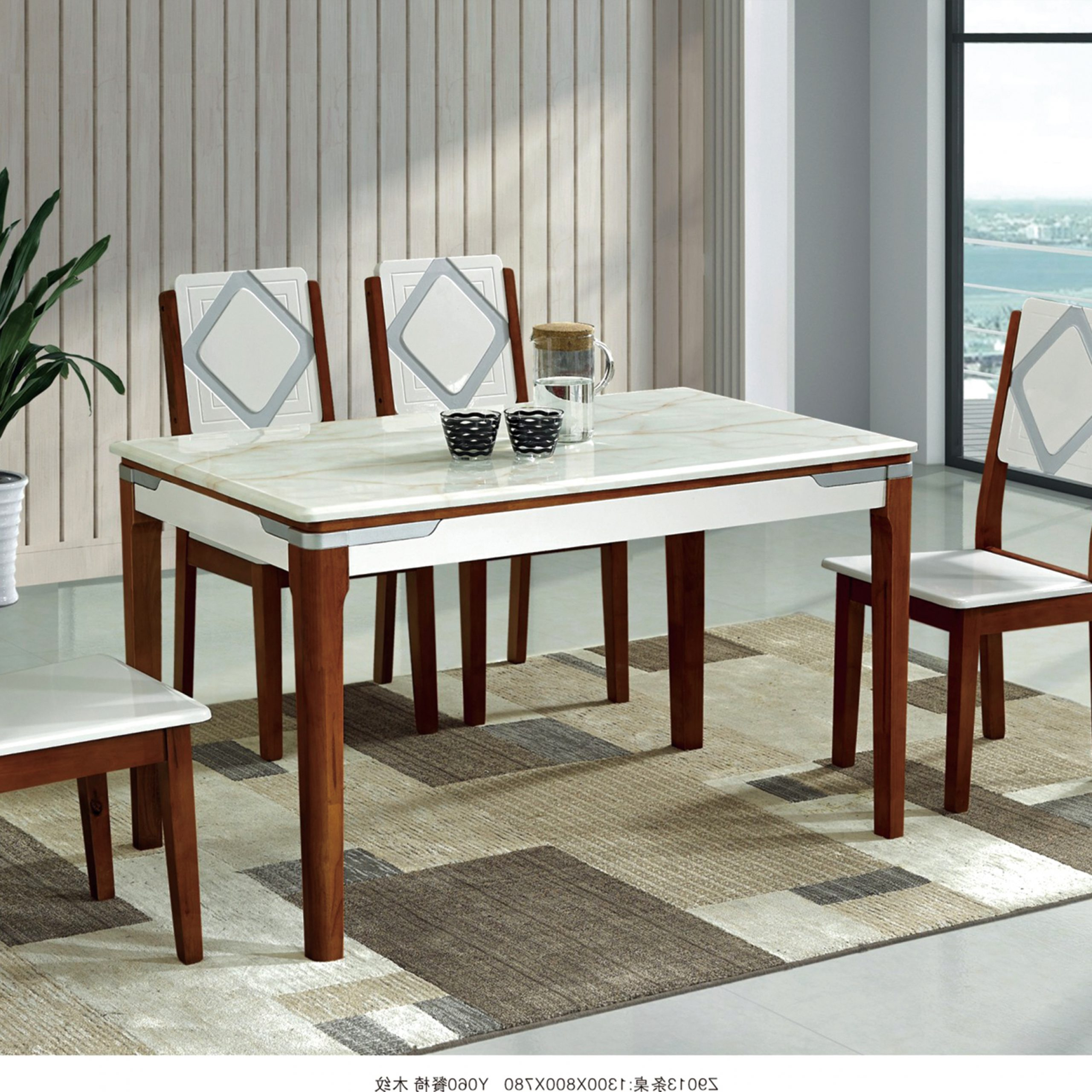 Widely Used Home Furniture White Marble Top Dining Table(Bf153) Within Dining Tables With White Marble Top (Gallery 30 of 30)