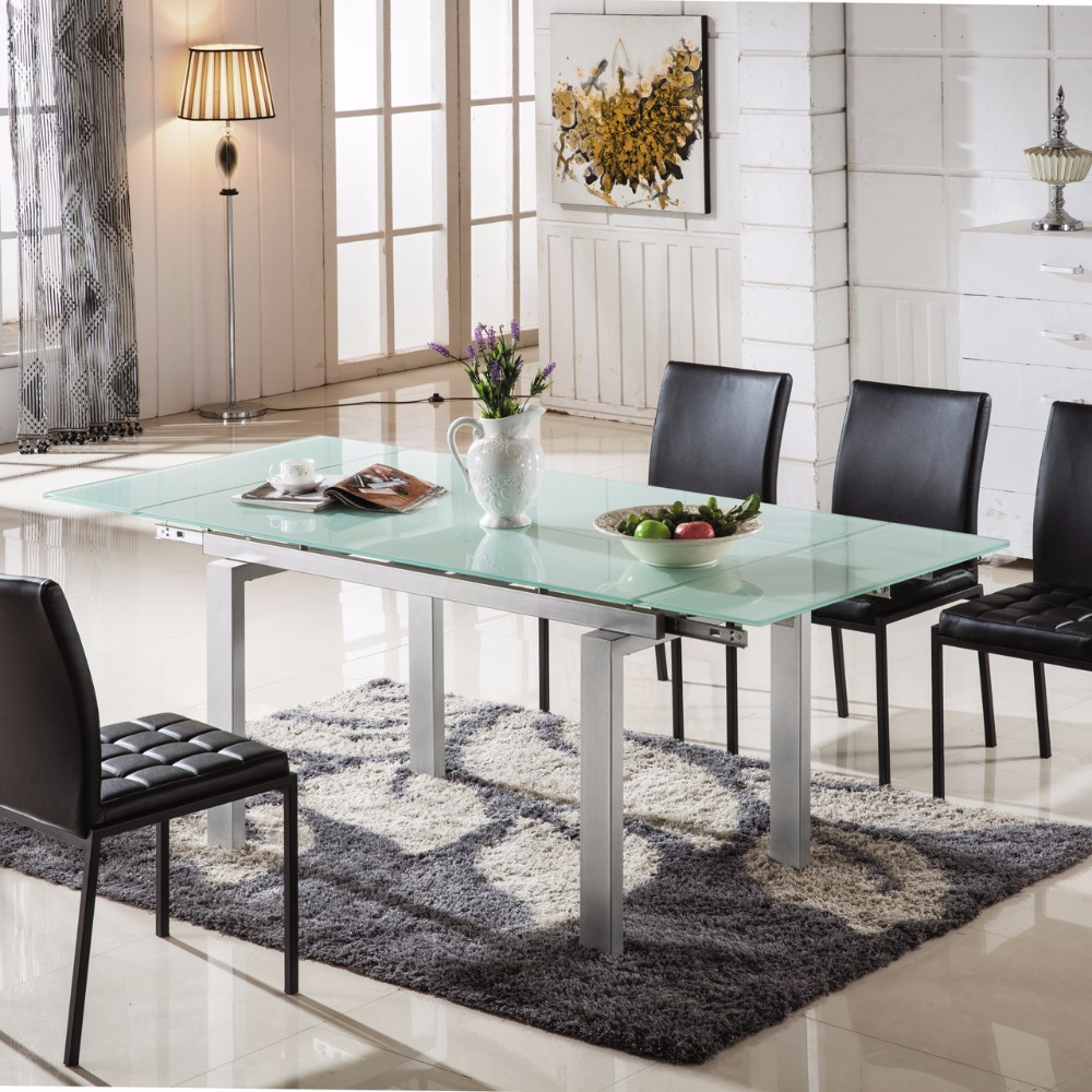 Widely Used Modern Dining Tables In Hot Selling Dining Room Furniture Modern Glass Imported Dining Table – Buy  Imported Dining Table,modern Dining Tables,dining Table Modern Product On (Gallery 7 of 30)
