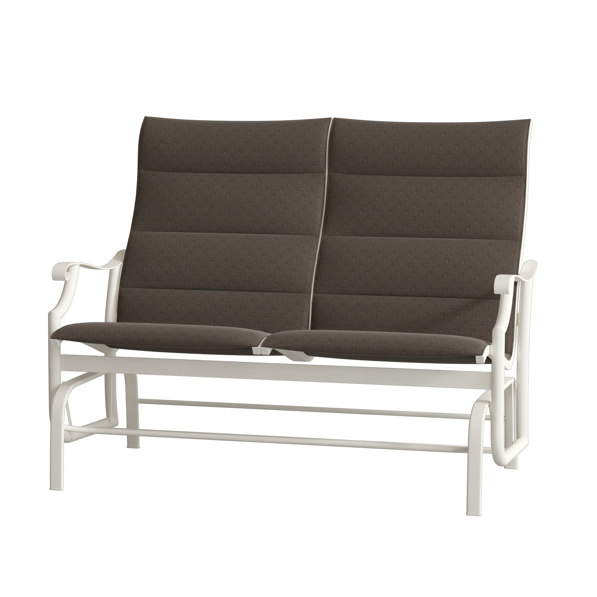 Widely Used Padded Sling Double Glider Benches Intended For Montreux Padded Sling Loveseat With Cushions (View 15 of 30)