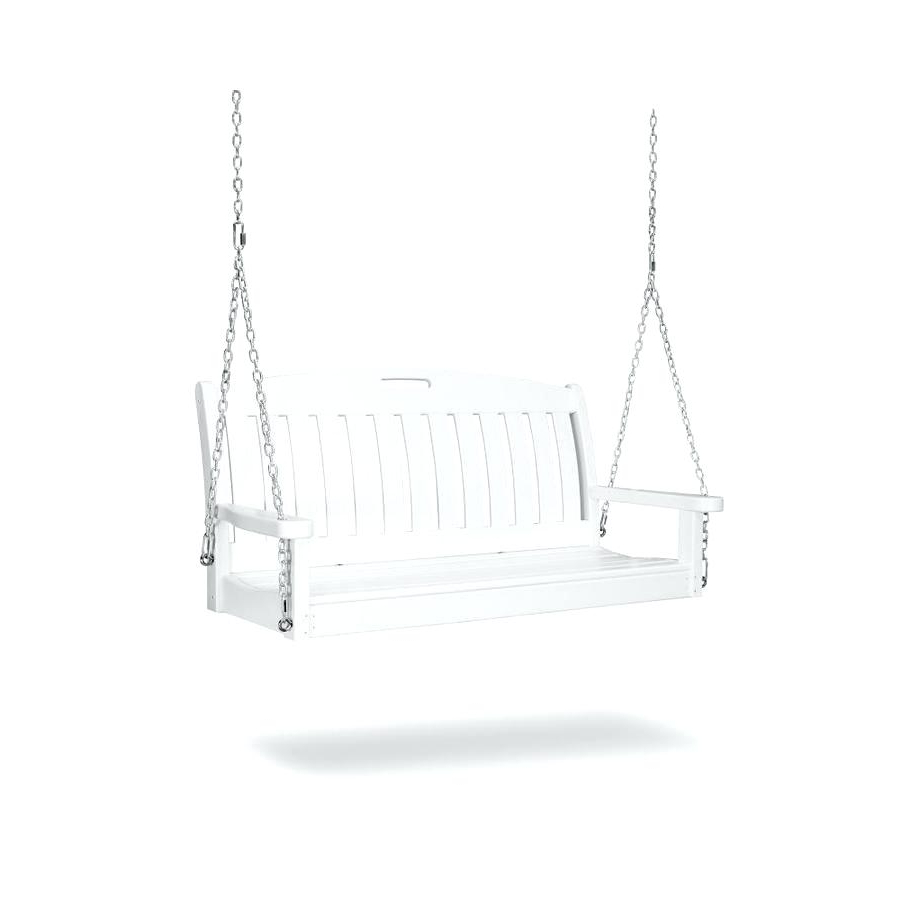Widely Used Polywood Porch Swing – Founderware.co Inside Vineyard 2 Person Black Recycled Plastic Outdoor Swings (Gallery 11 of 30)