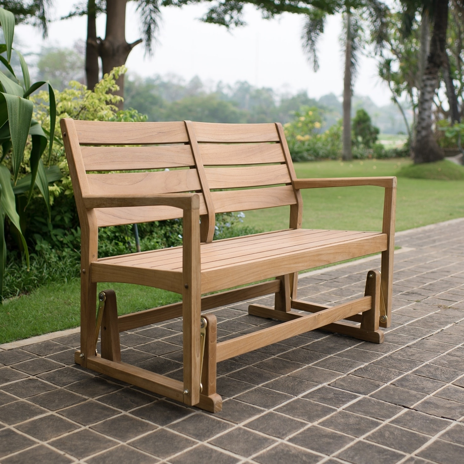 Widely Used Teak Glider Benches In Cambridge Casual Andrea Teak Glider Bench – Walmart (View 30 of 30)