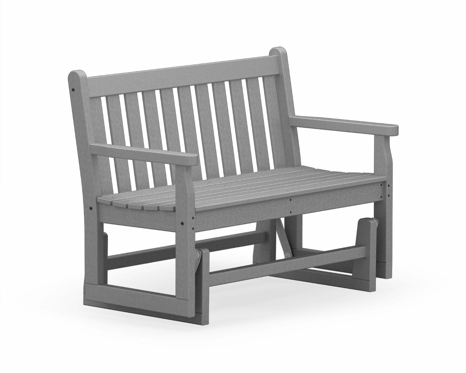 "Widely Used Traditional Glider Benches With Polywood® Traditional Garden 48"" Glider Bench & Reviews (View 30 of 30)"