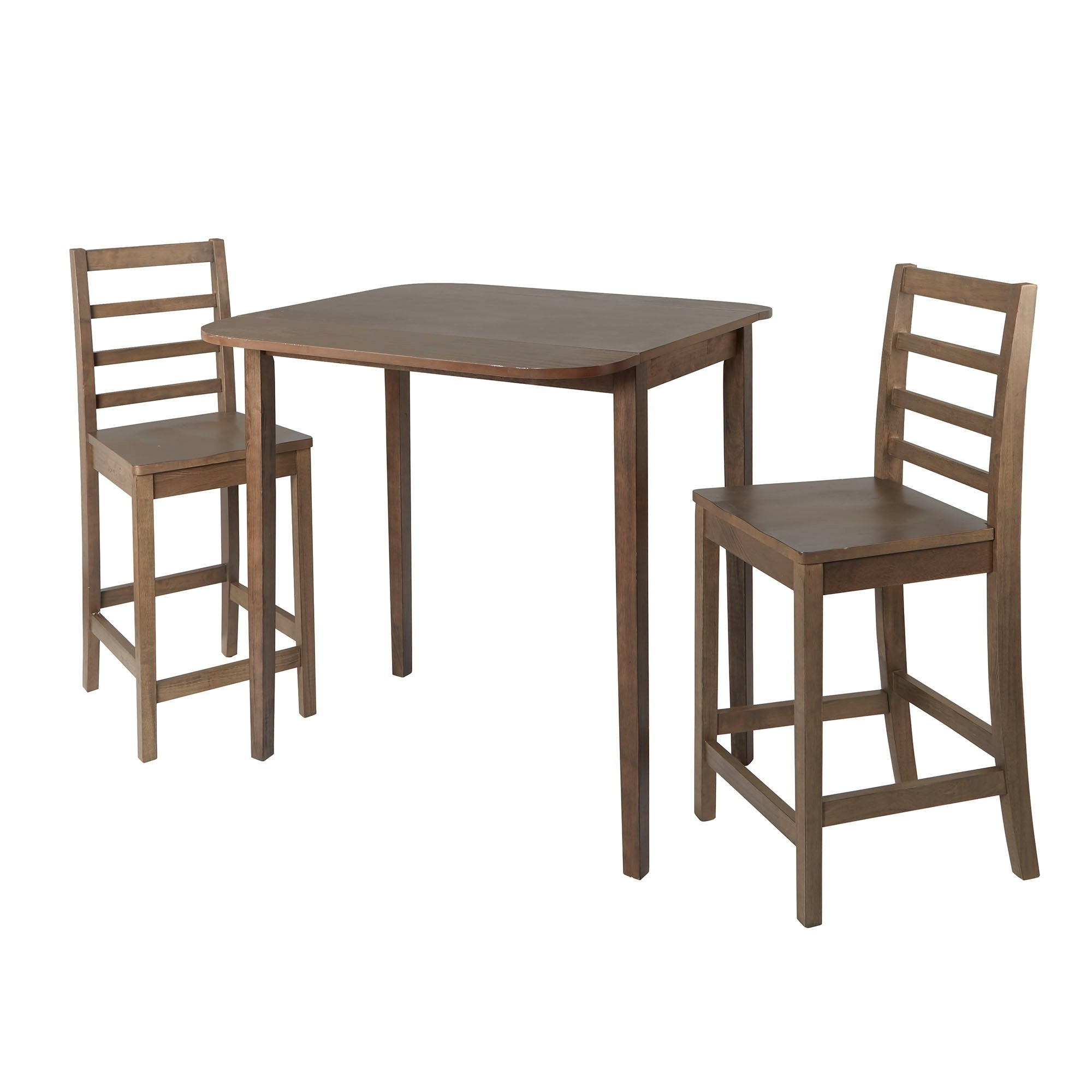 Widely Used Transitional 3 Piece Drop Leaf Casual Dining Tables Set In Bennett 3 Piece Drop Leaf Pub Dining Set (View 29 of 30)