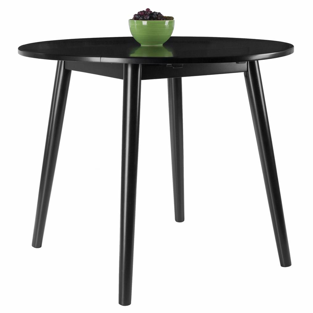 Widely Used Unfinished Drop Leaf Casual Dining Tables For Winsome Wood Moreno 36 In. Black Round Drop Leaf Table 20036 (Gallery 26 of 30)