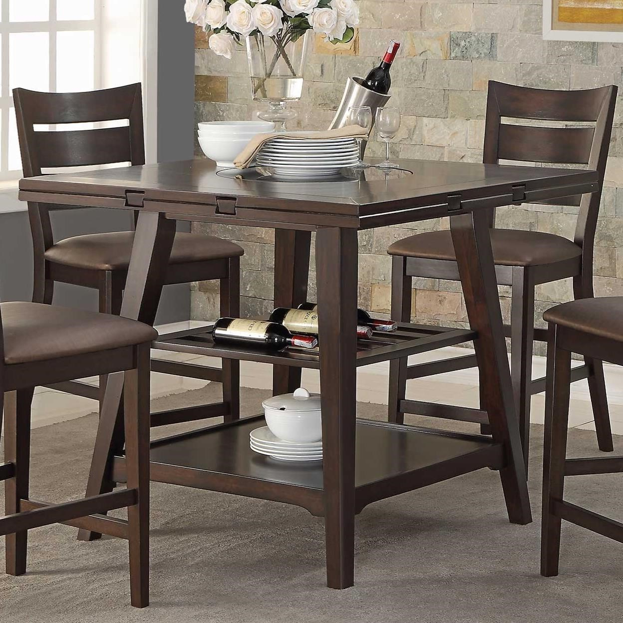 Winners Only Parkside Drop Leaf Counter Height Table With Pertaining To Fashionable Transitional Drop Leaf Casual Dining Tables (View 29 of 30)