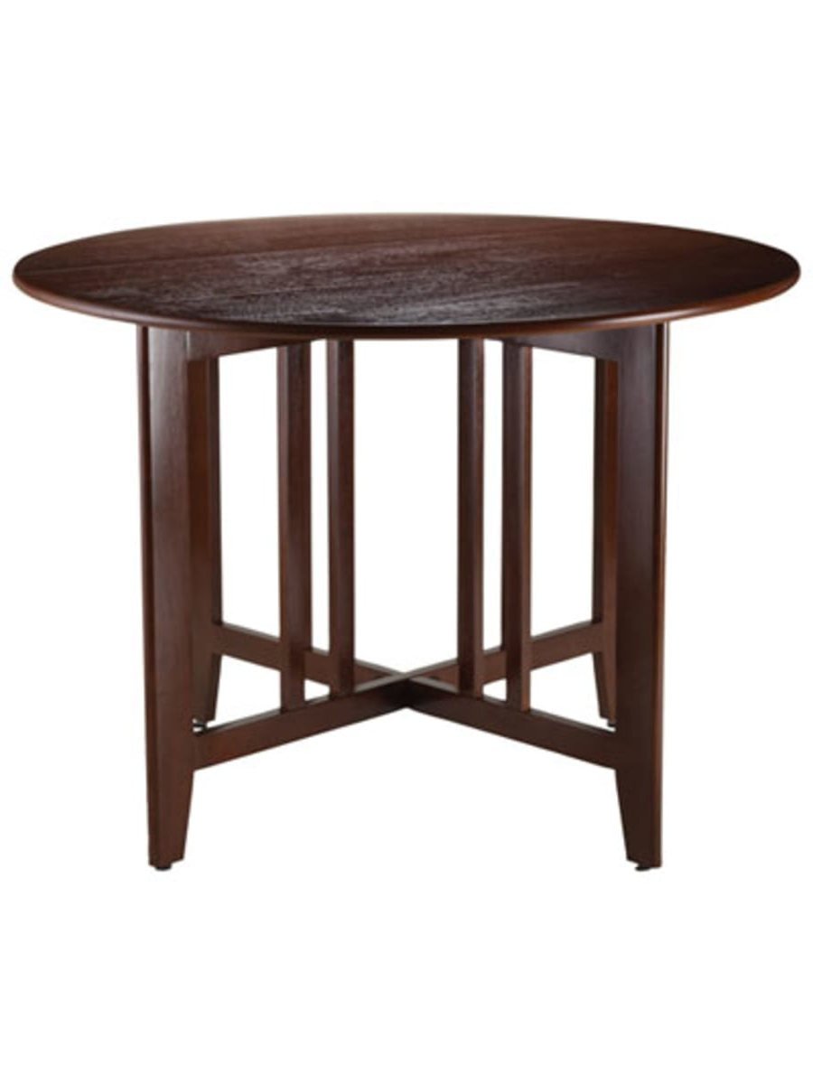 Winsome Alamo Transitional 4 Seating Double Drop Leaf Round Pertaining To Most Current Transitional Antique Walnut Drop Leaf Casual Dining Tables (View 28 of 30)