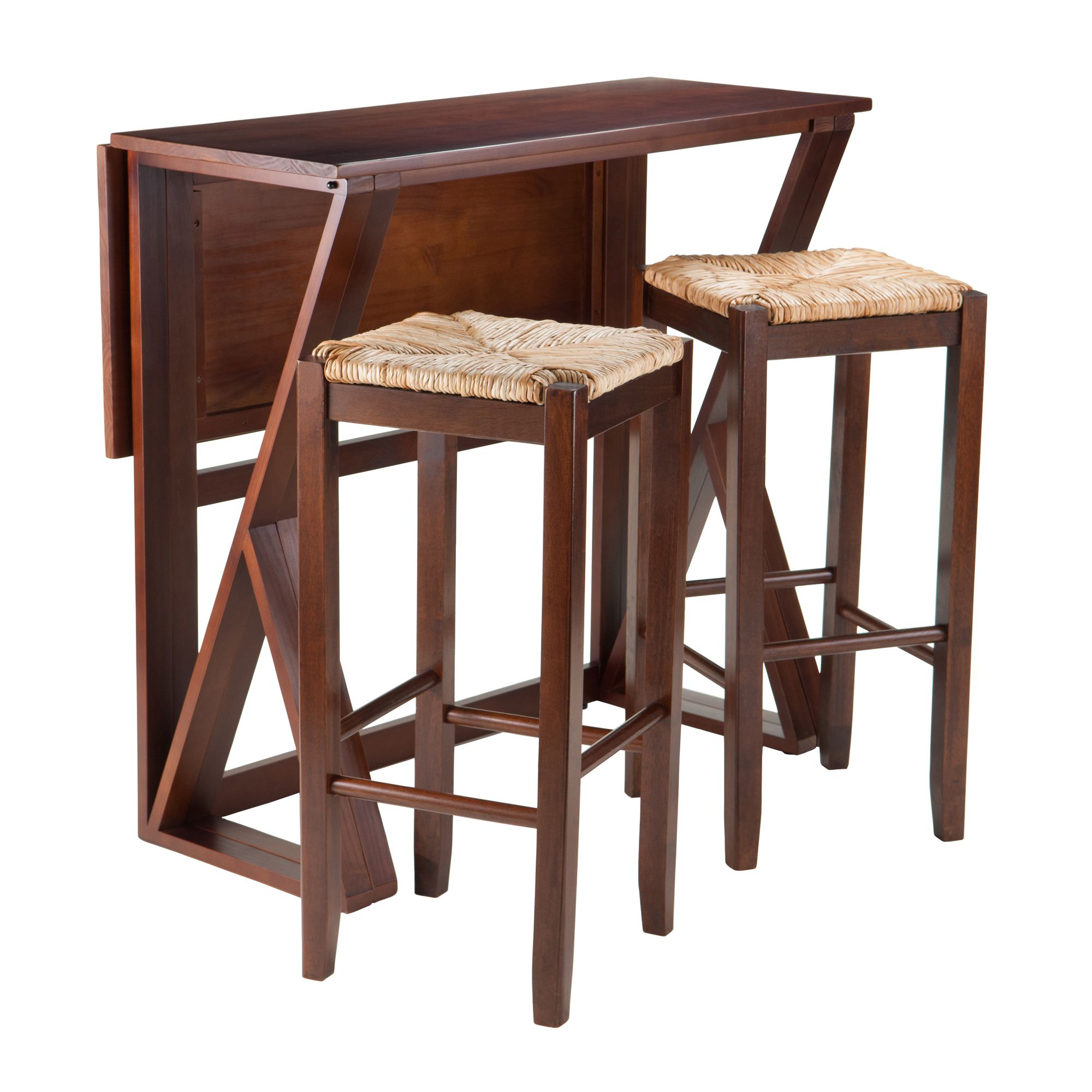 Winsome Wood Harrington 3 Piece Wood Dining Set With Drop Leaf Throughout Recent Transitional Antique Walnut Drop Leaf Casual Dining Tables (View 30 of 30)