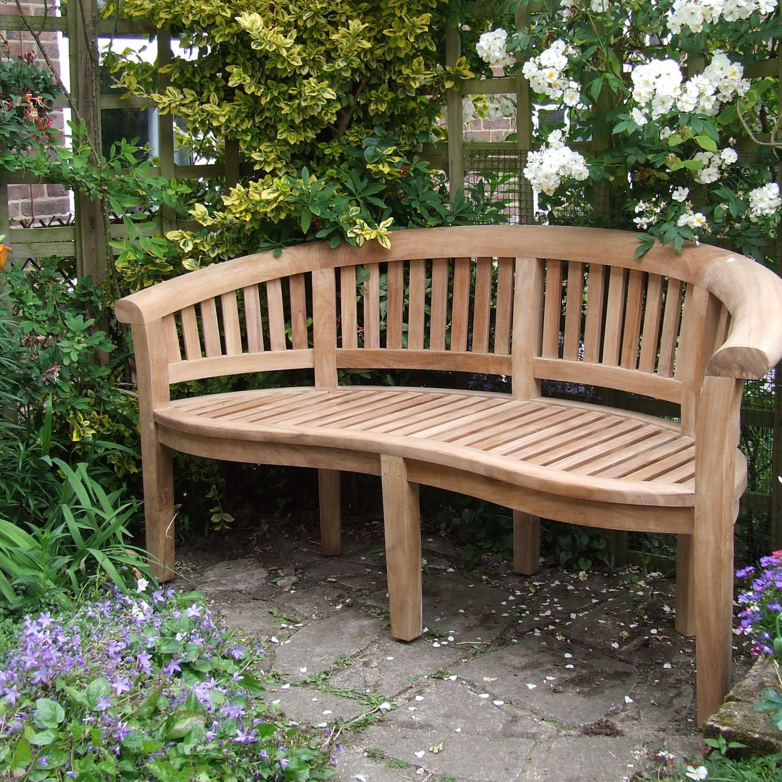 Wood Garden Benches Inside Well Liked Concrete Garden Benches Inspiration Furniture Natural Look (View 24 of 30)