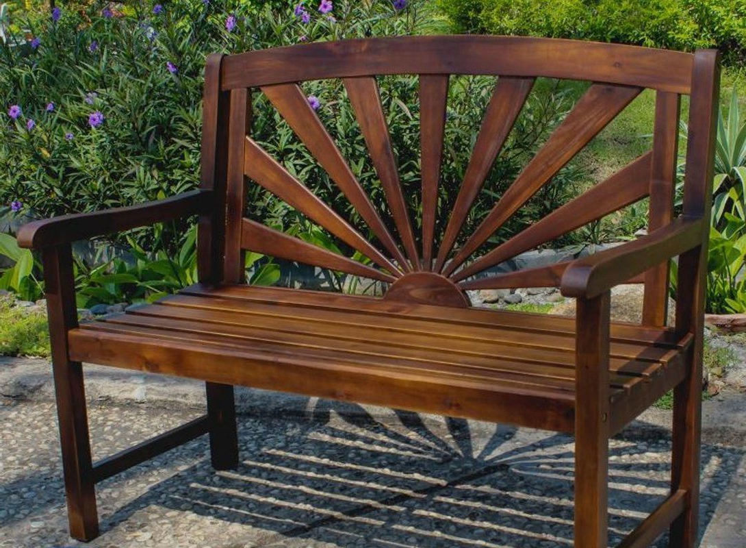 Wood Garden Benches Pertaining To Most Recent Rothstein Outdoor Wood Garden Bench (Gallery 6 of 30)