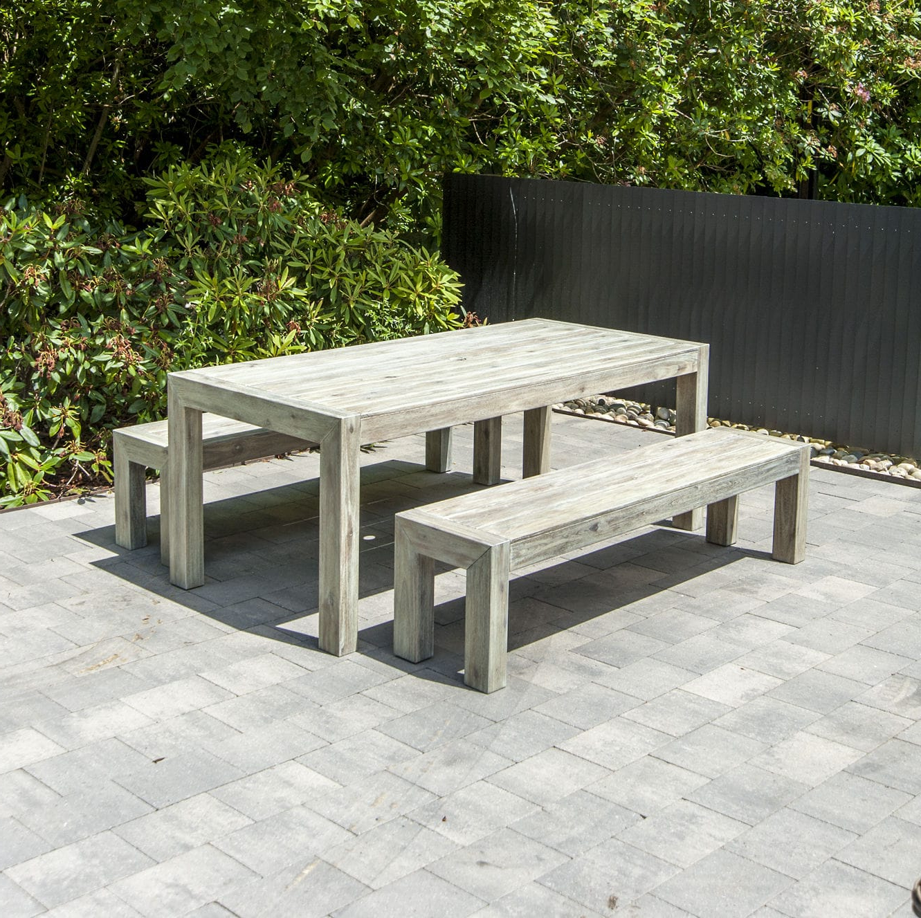 Wood Garden Benches Throughout Most Popular Garden Bench / Traditional / Acacia / Fsc Certified (View 27 of 30)