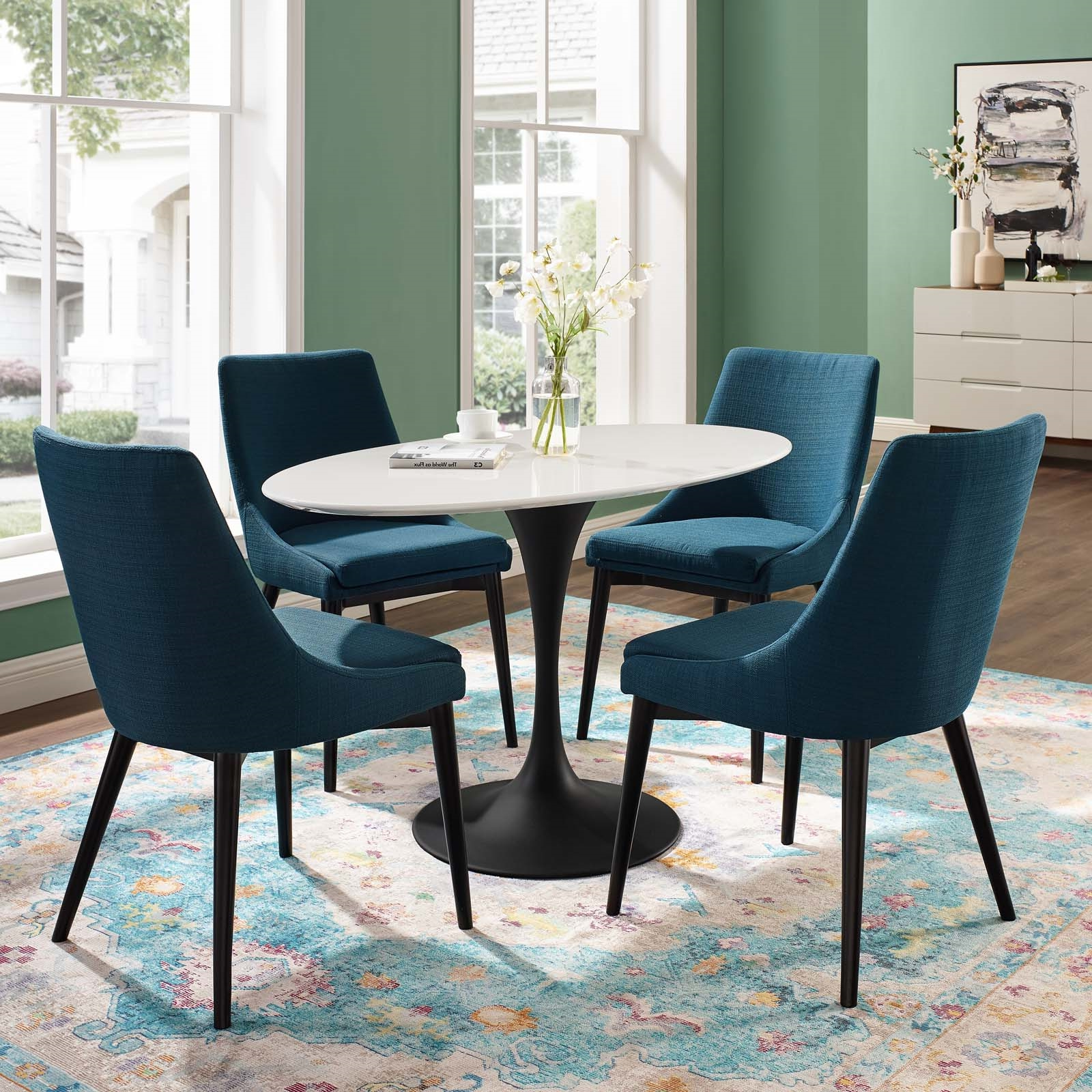 """Wood Top Dining Tables Throughout Preferred Lippa 48"""" Oval Wood Top Dining Table (View 30 of 30)"""