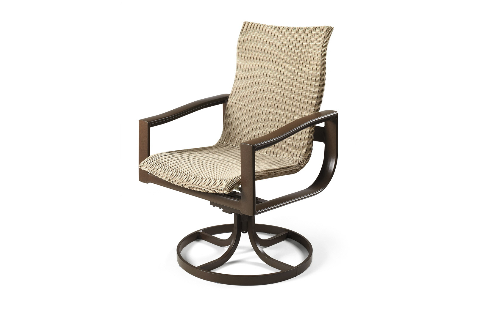 Woven High Back Swivel Chairs With Regard To Fashionable Belvedere Woven Outdoor High Back Swivel Tilt Chair (Gallery 30 of 30)
