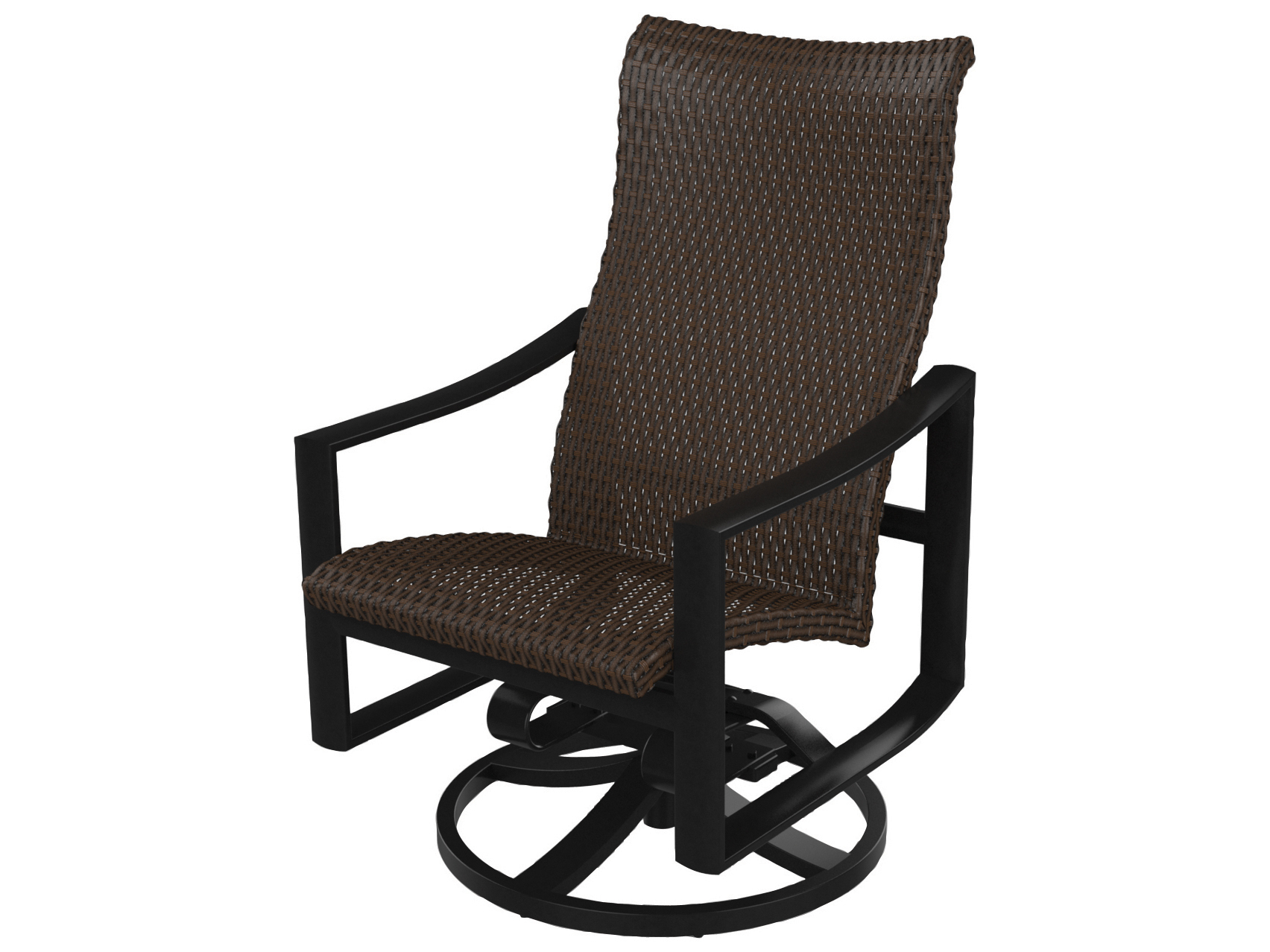 Woven High Back Swivel Chairs Within Preferred Tropitone Kenzo Woven High Back Swivel Rocker (View 8 of 30)