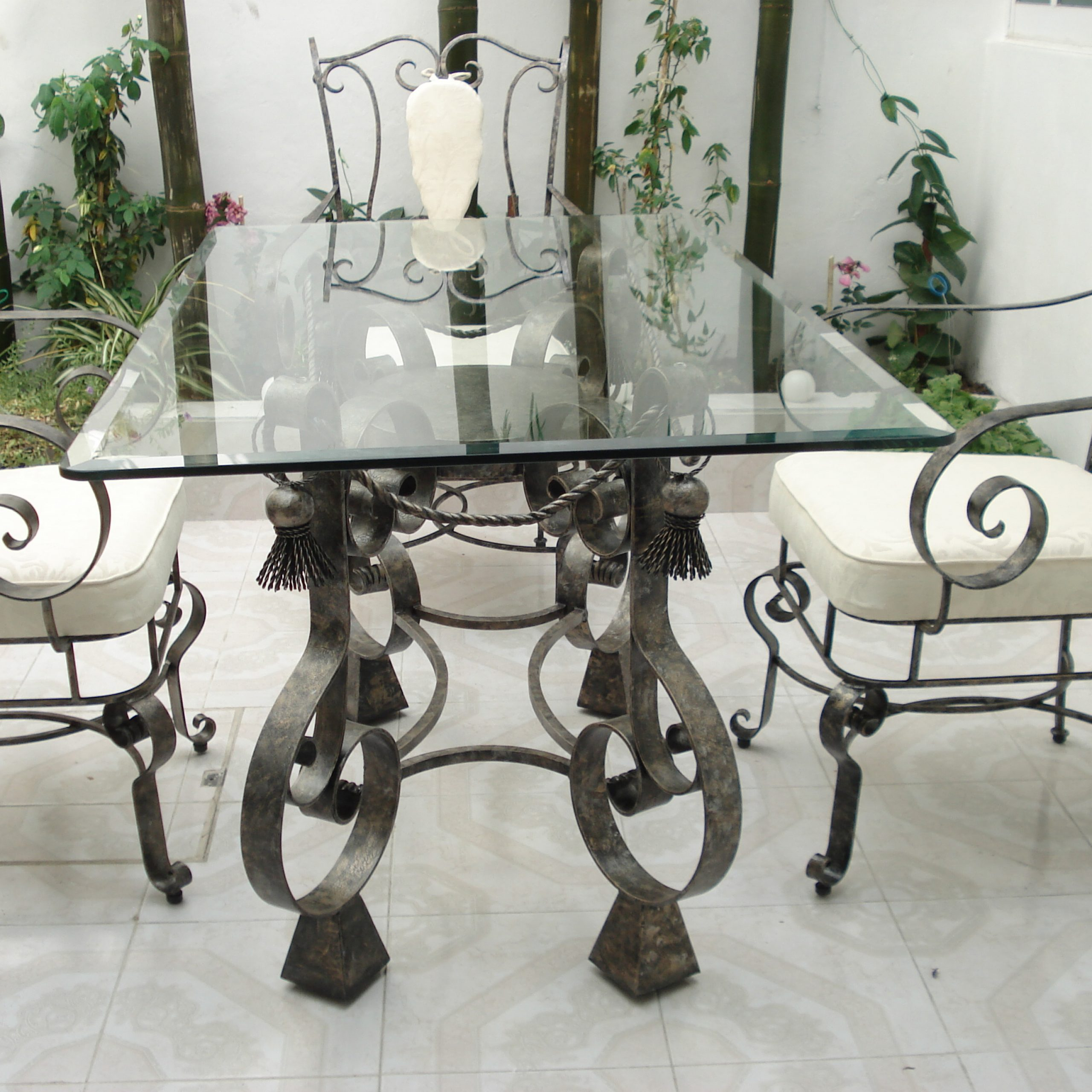 Wrought Iron And Wood Dining Tables Room Regarding Favorite Iron Wood Dining Tables (Gallery 13 of 30)