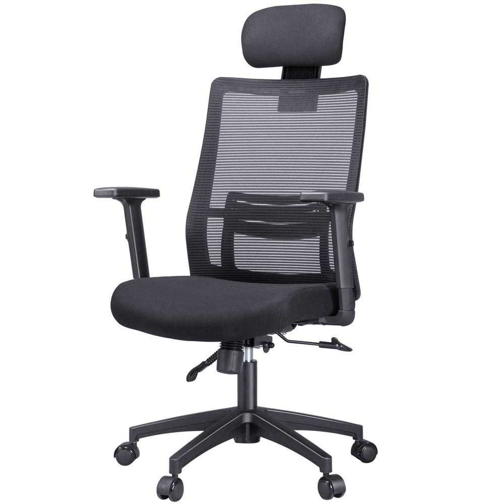 Yaheetech Swivel Ergonomic/executive/reclining Office Chair With Lumbar/back Support Adjustable Arms/head Rest High Back Mesh Computer Desk/gaming Intended For Trendy Woven High Back Swivel Chairs (View 17 of 30)