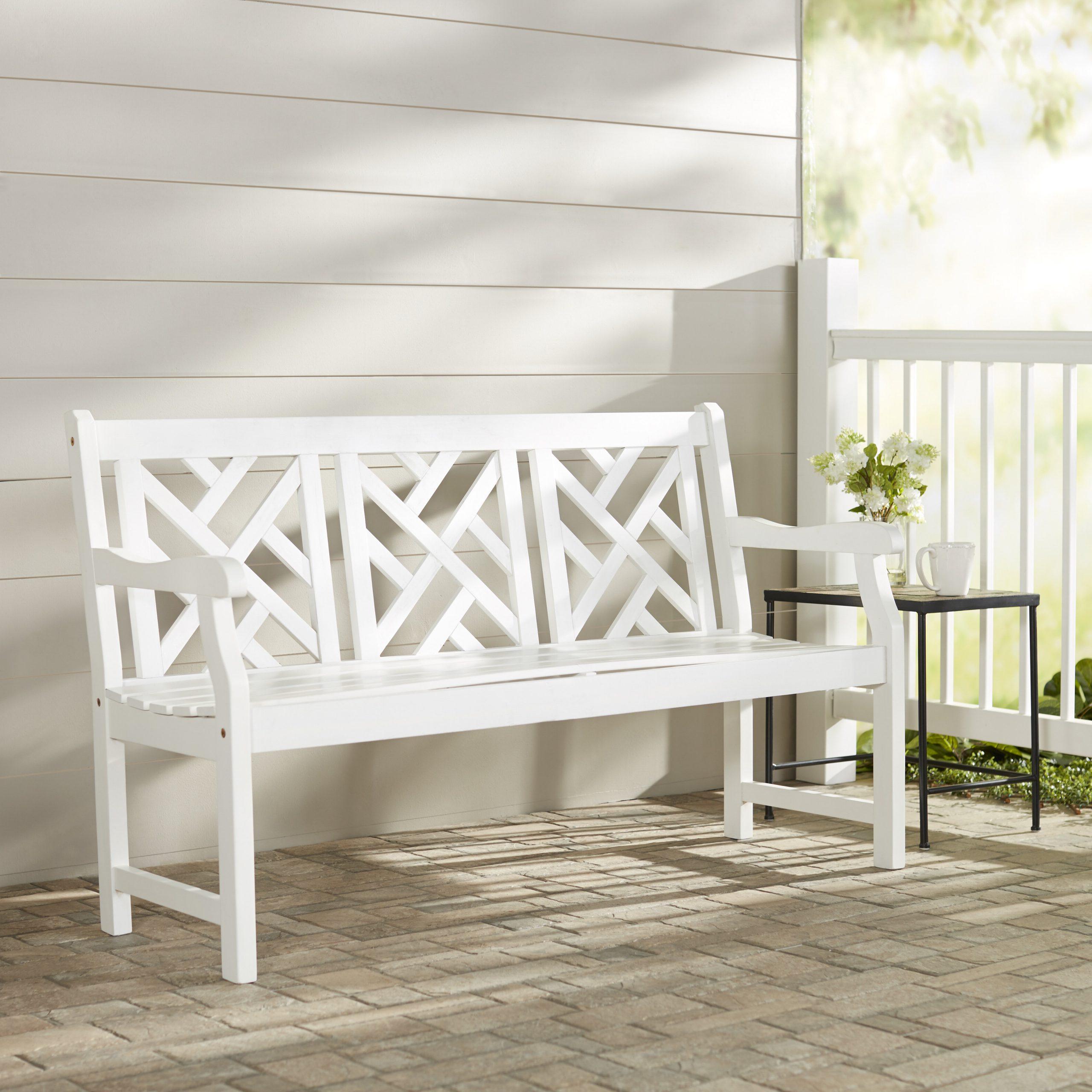 2019 Amabel Patio Diamond Wooden Garden Benches With Regard To Amabel Wooden Garden Bench (View 6 of 30)