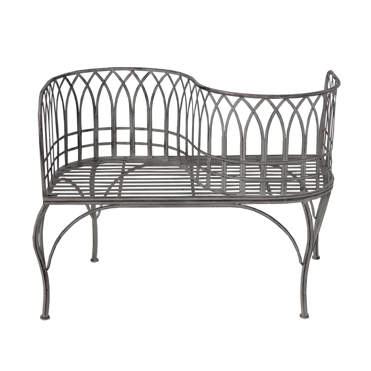2019 Gines Curved Steel Tete A Tete Bench In Lublin Wicker Tete A Tete Benches (View 18 of 30)