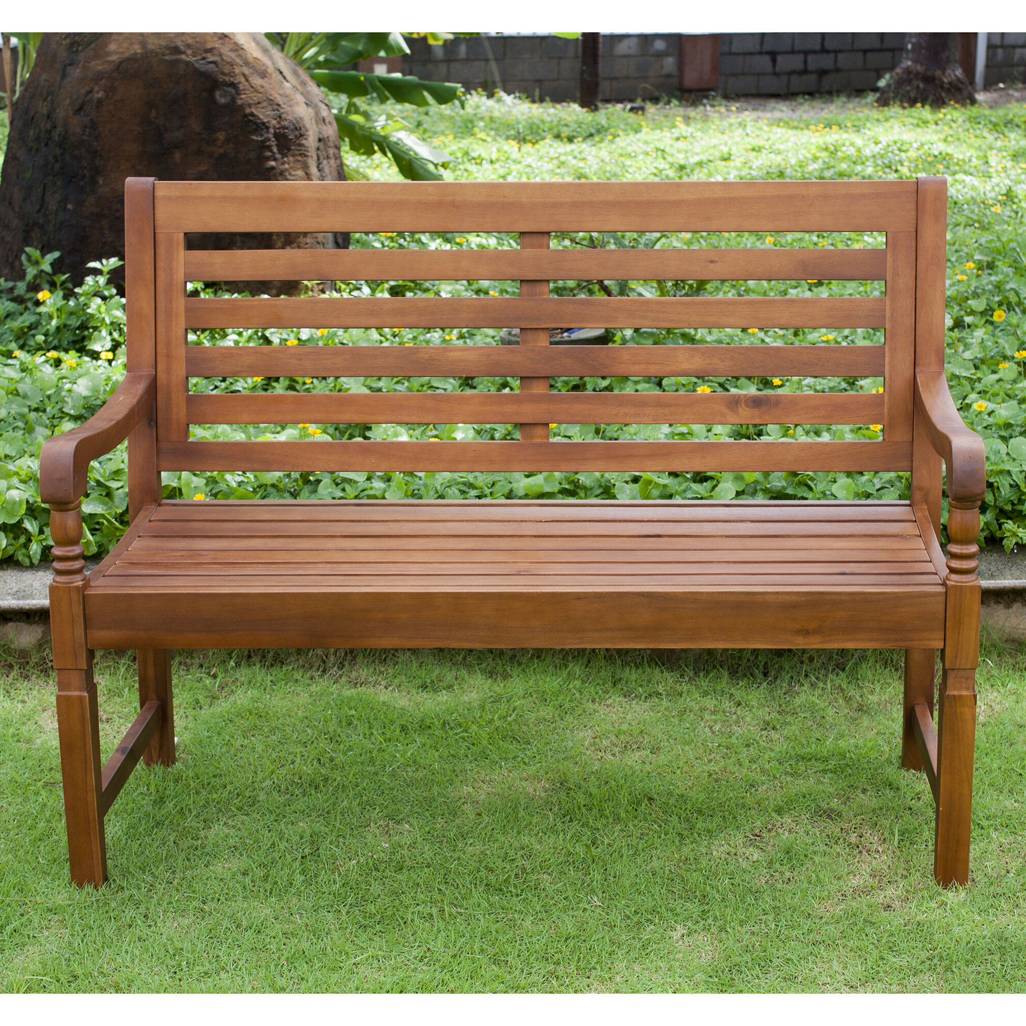 2019 Harmony Garden Bench, Natural Regarding Guyapi Garden Benches (View 4 of 30)